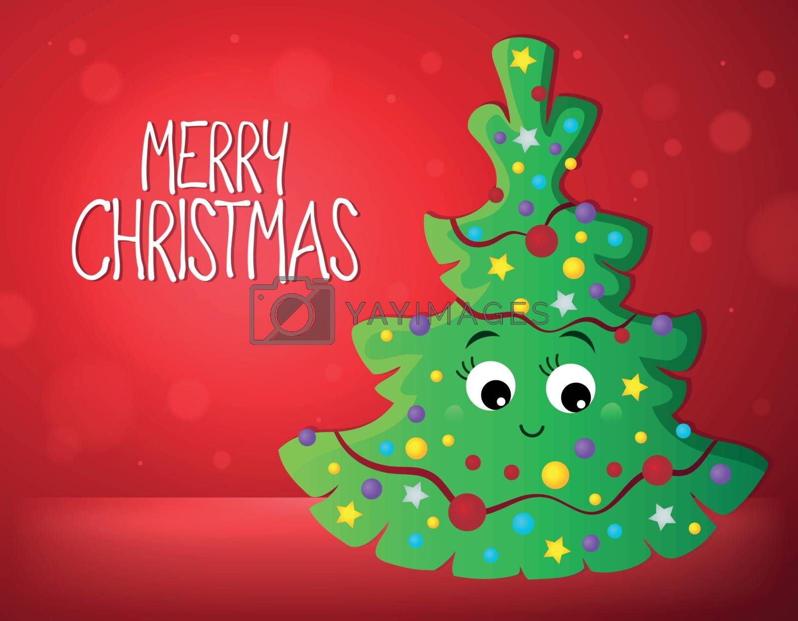 Merry Christmas composition image 1 - eps10 vector illustration.