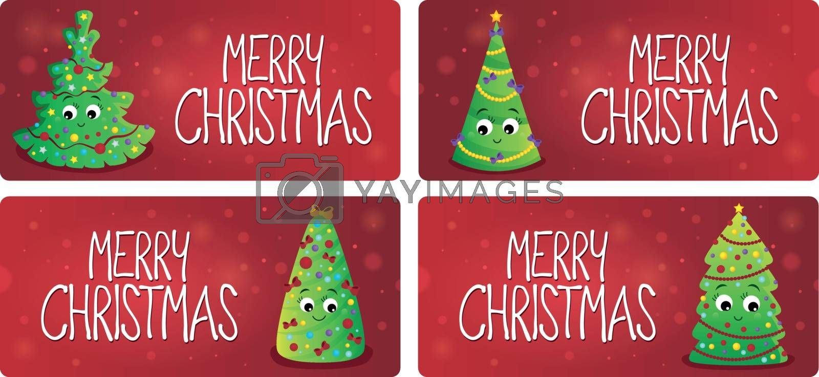 Merry Christmas theme cards 1 - eps10 vector illustration.