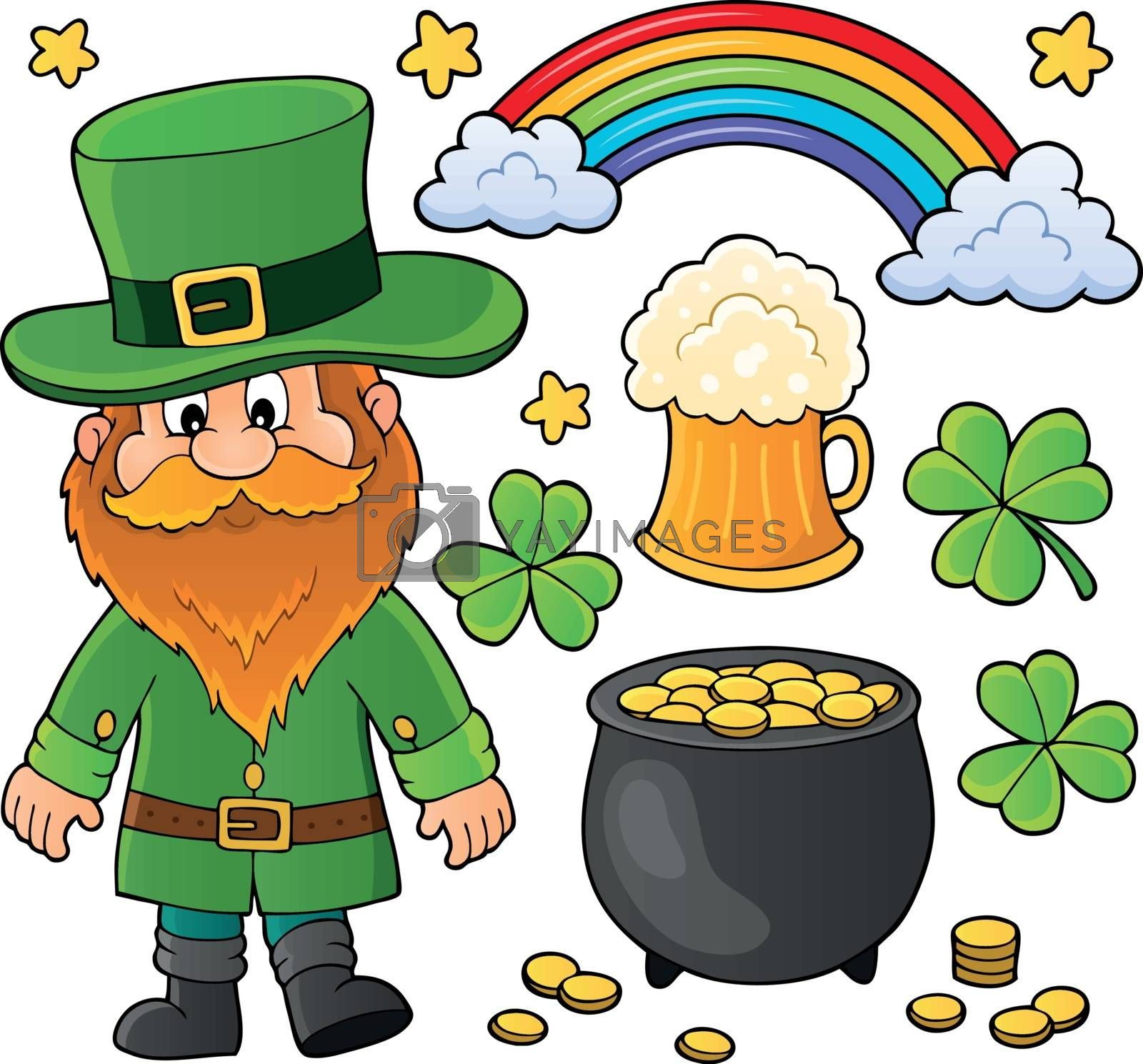 St Patricks Day theme set 1 - eps10 vector illustration.