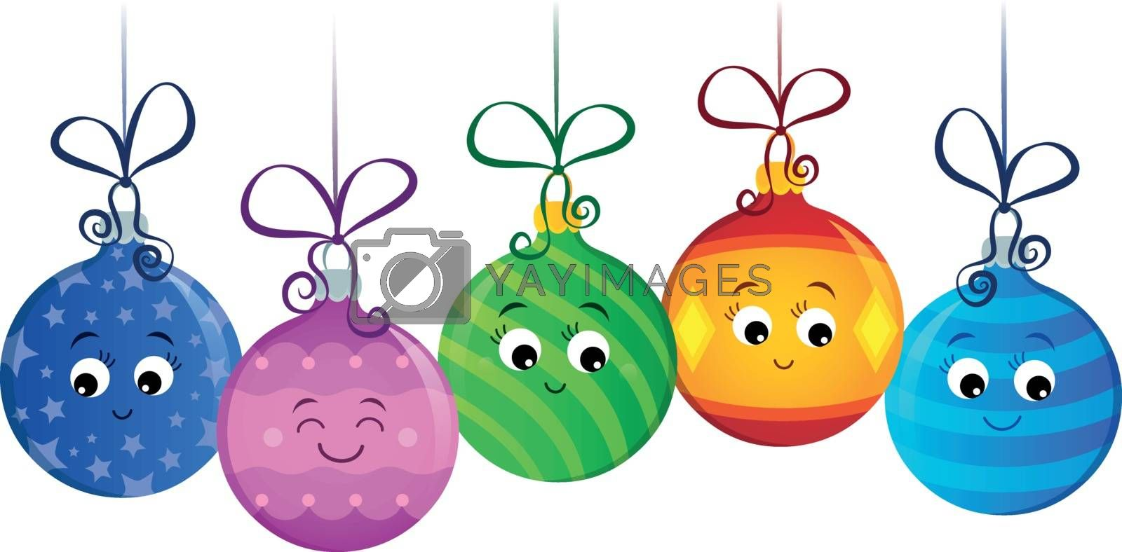 Stylized Christmas ornaments image 2 - eps10 vector illustration.