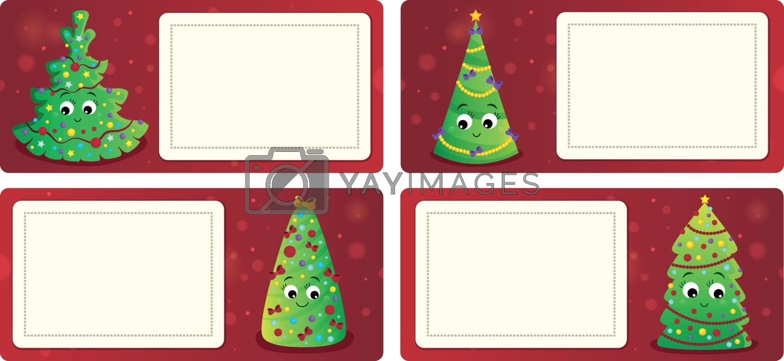Stylized Christmas theme cards 1 - eps10 vector illustration.