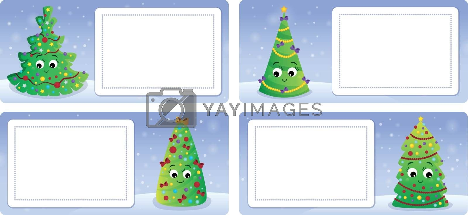 Stylized Christmas theme cards 2 - eps10 vector illustration.