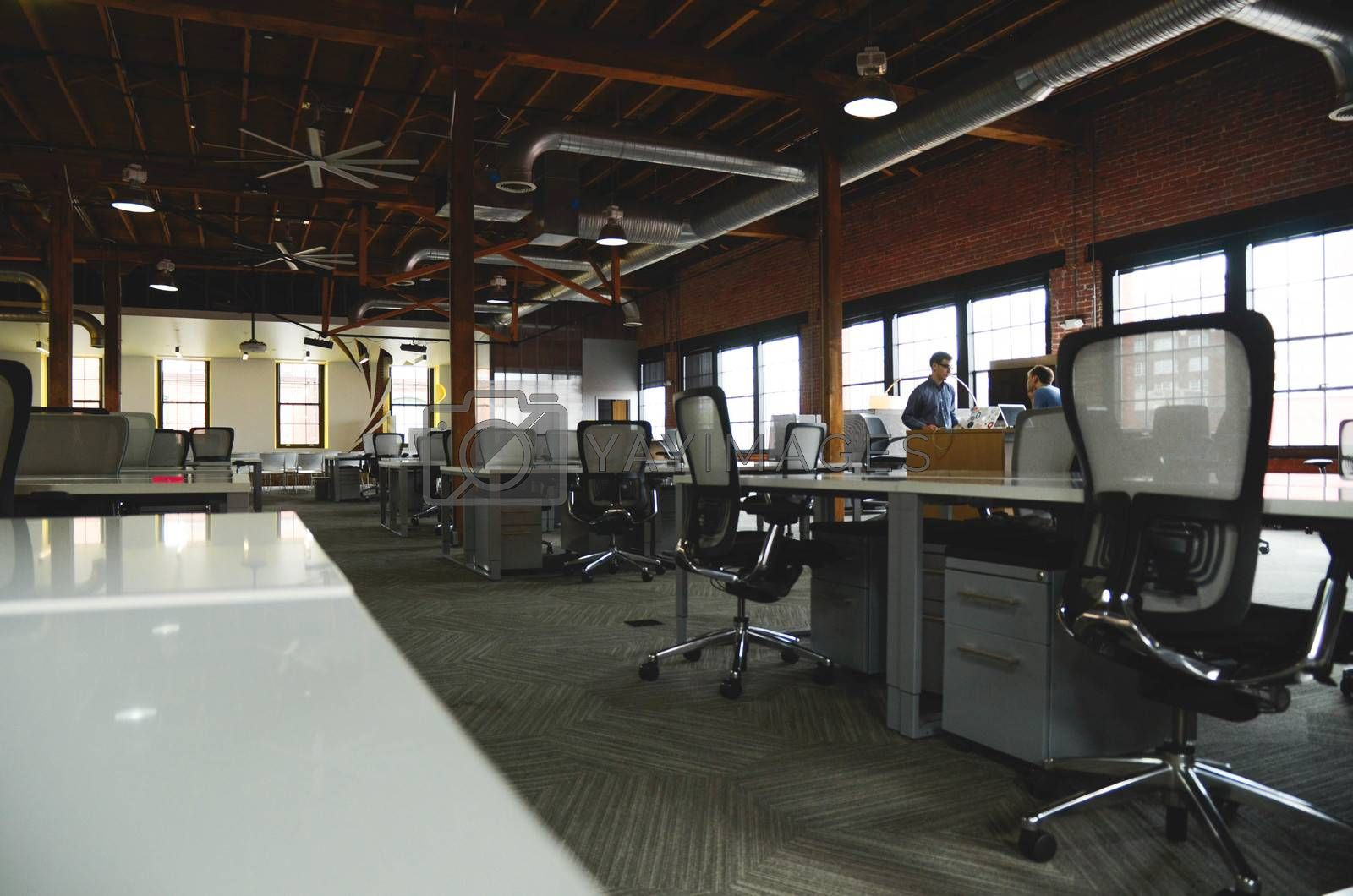 Startup office room during working time