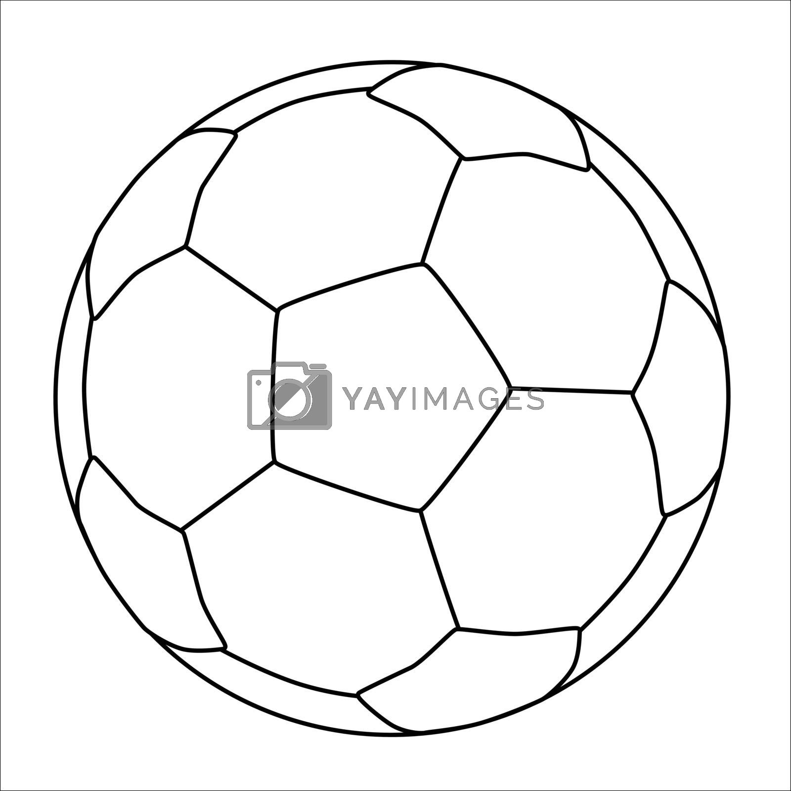 A typical soccer football isolated over a white background