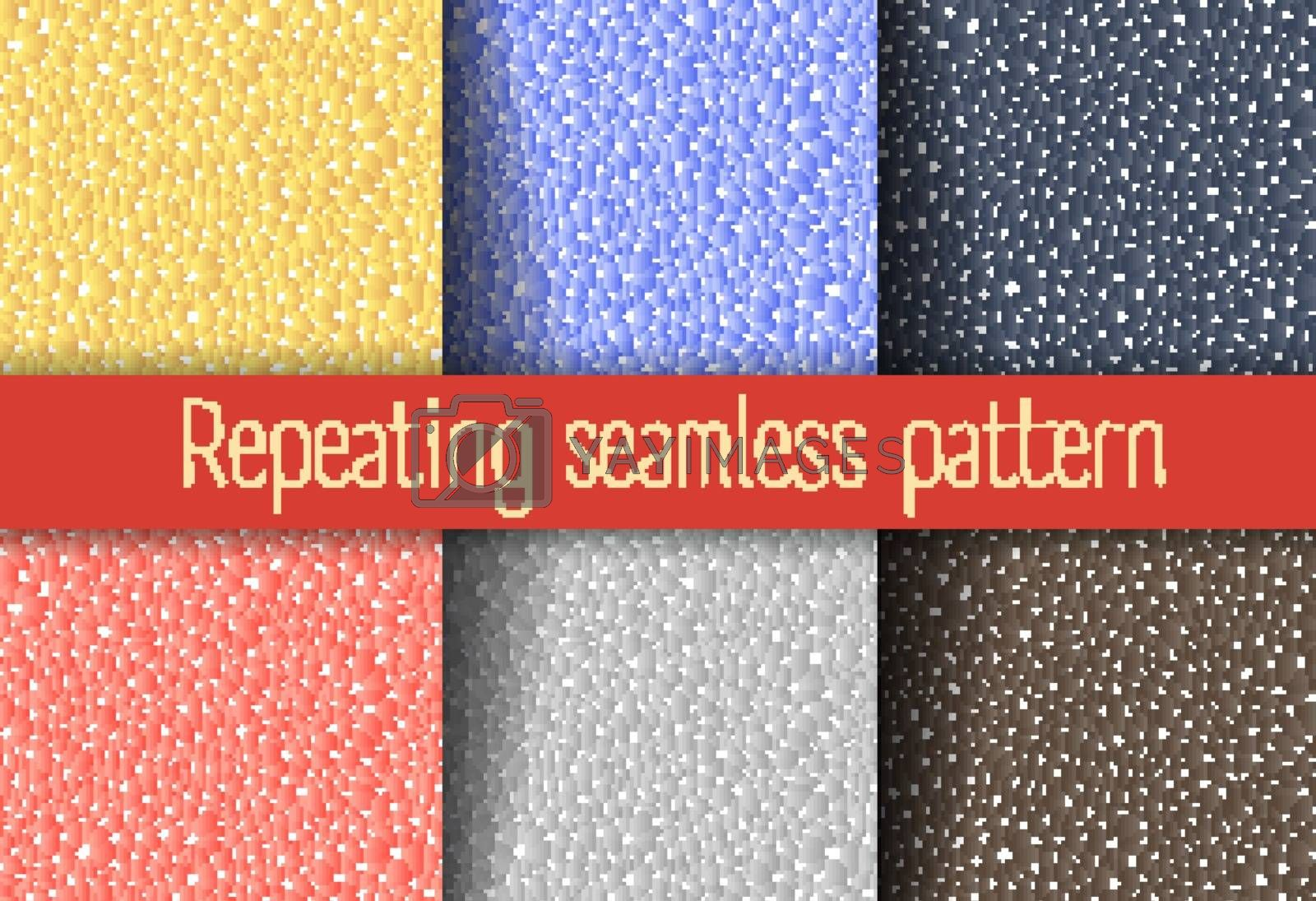 Set of abstract seamless repeating background