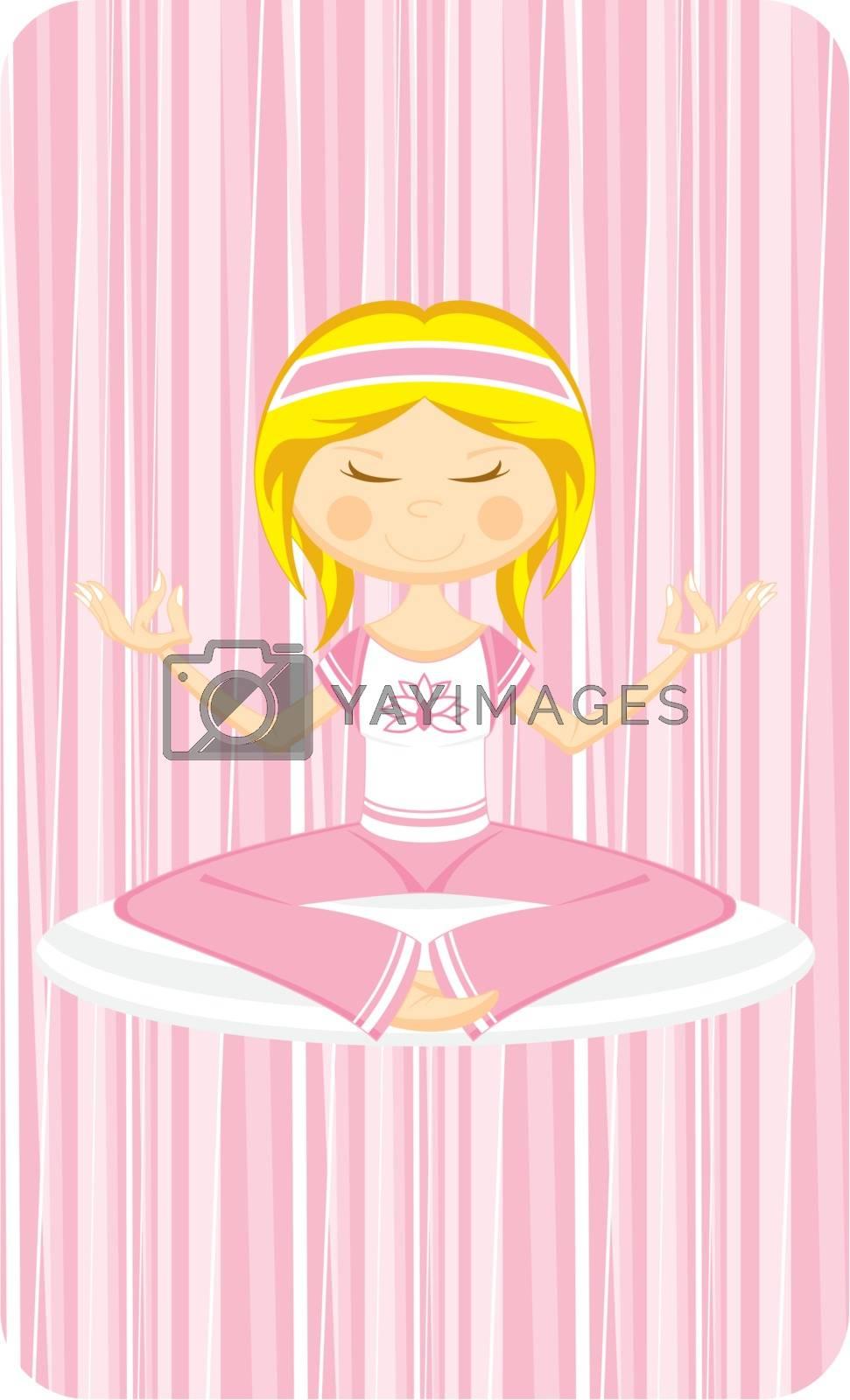 Cute Cartoon Yoga Girl by markmurphycreative