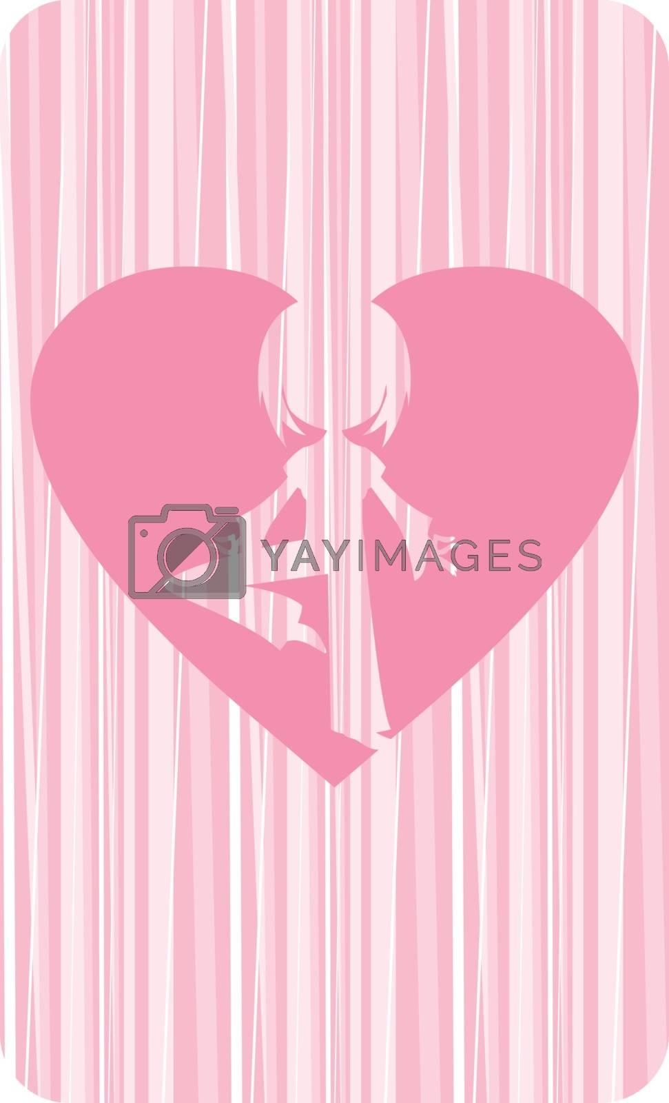 Valentine Heart Yoga Girl by markmurphycreative