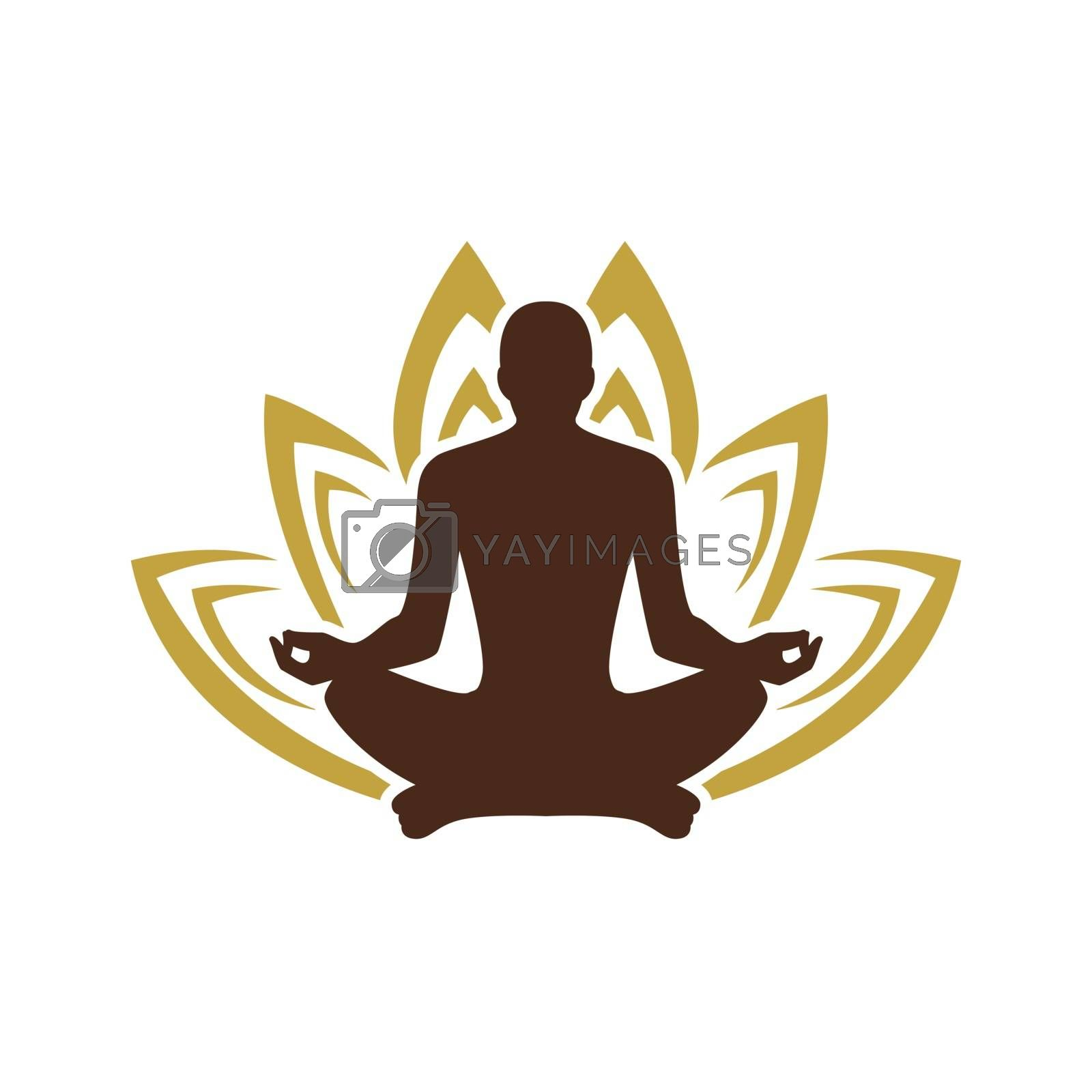 Yoga Logo Template Yoga Logo Design Stock Human Meditation In Lotus Flower Vector Illustration Royalty Free Stock Image Yayimages Royalty Free Stock Photos And Vectors