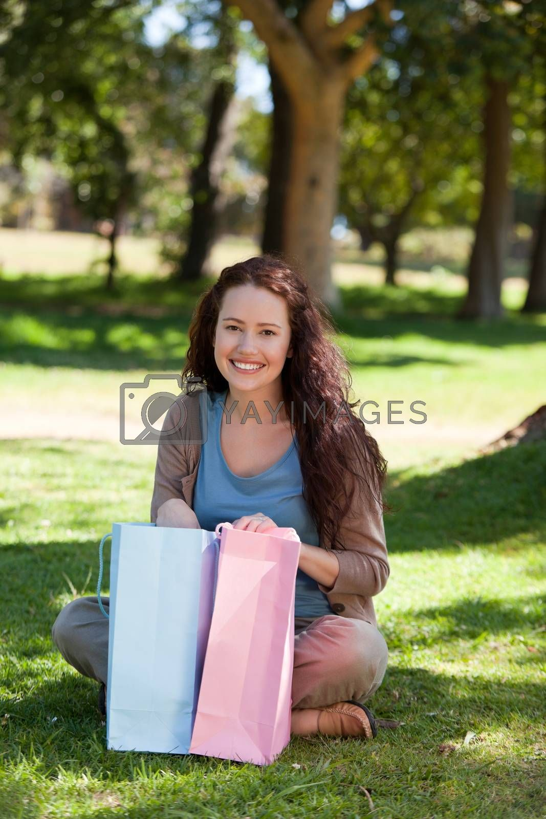 Beautiful woman with her shopping bag