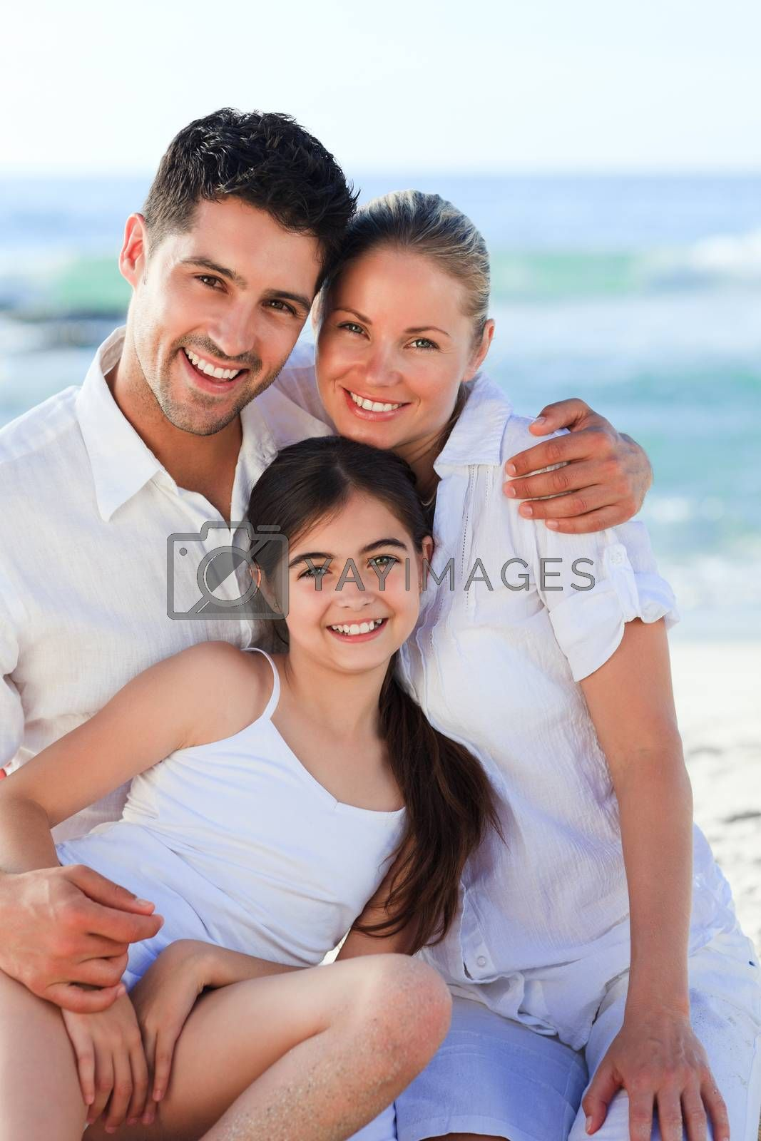 Lovely girl with her parents