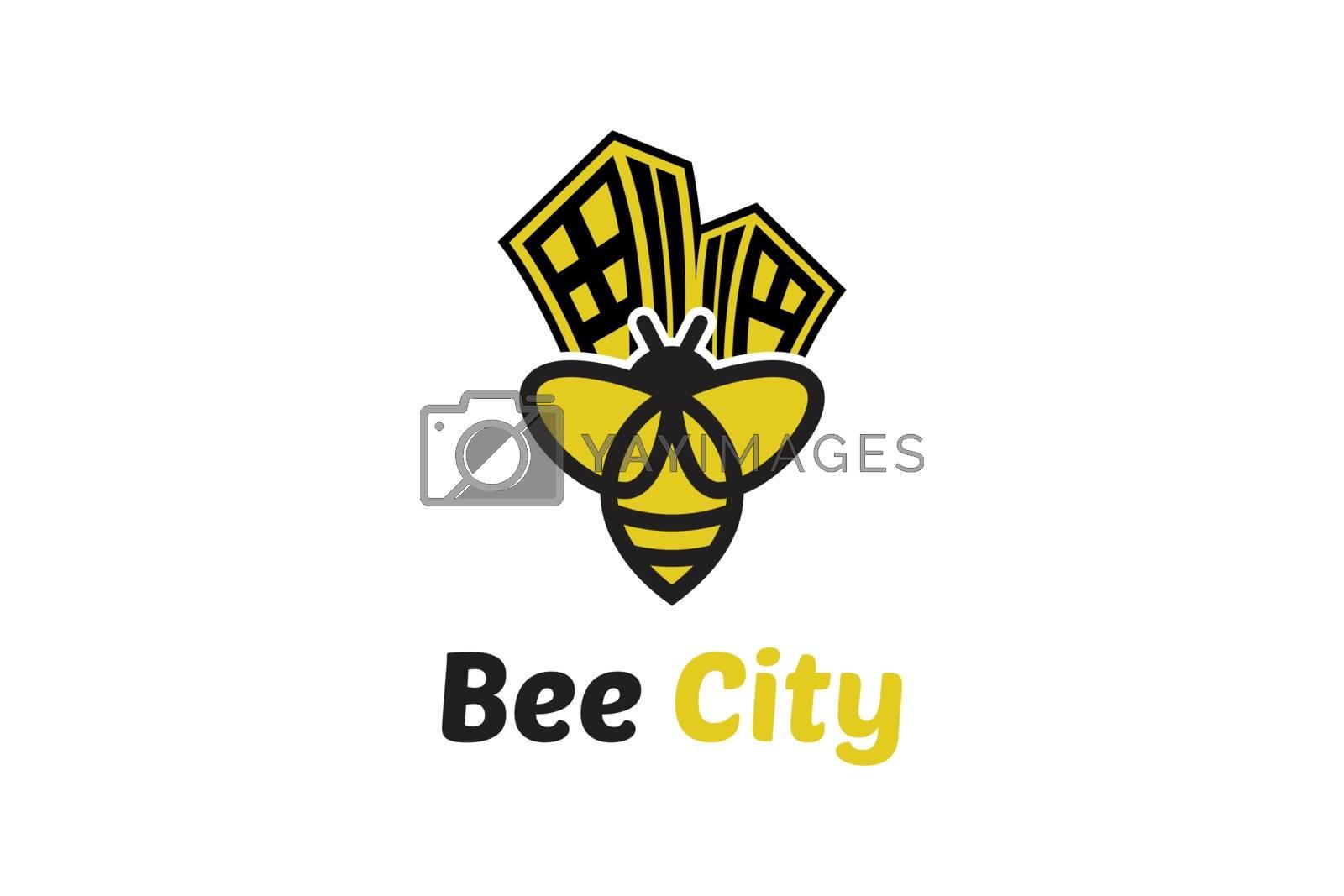 Bee logo design template honey logo design