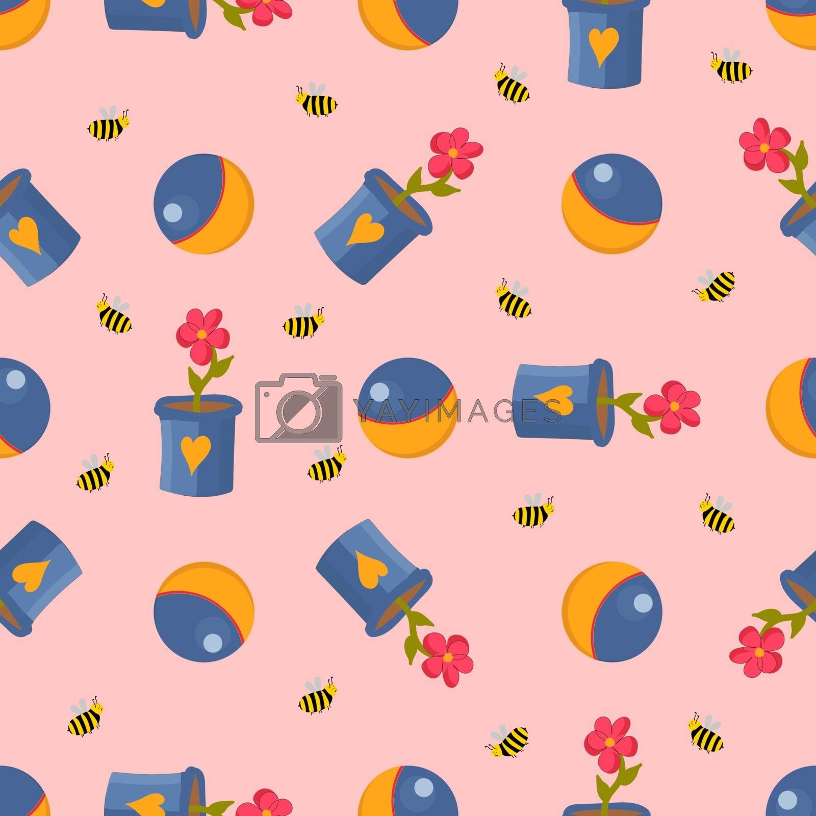 Teddy bear.Winnie-the-pooh seamless pattern. Toys isolated on a white background. Plush witch. Fairy-tale heroes. Book characters.