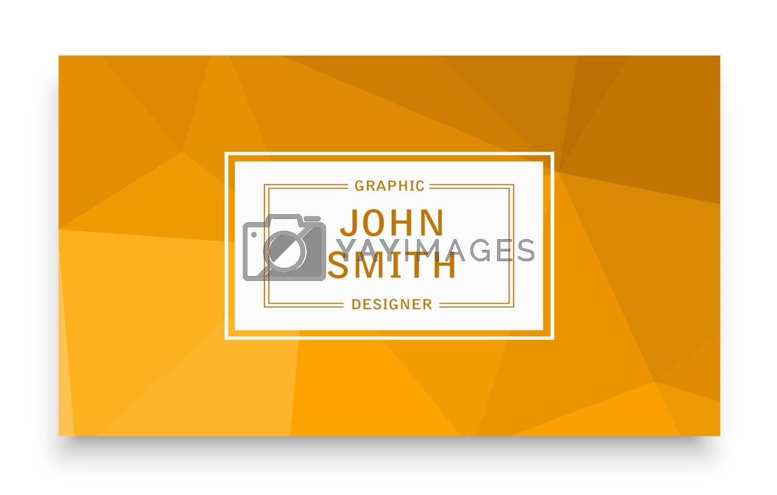 Business template business card with an abstract background for the presentation and creativity