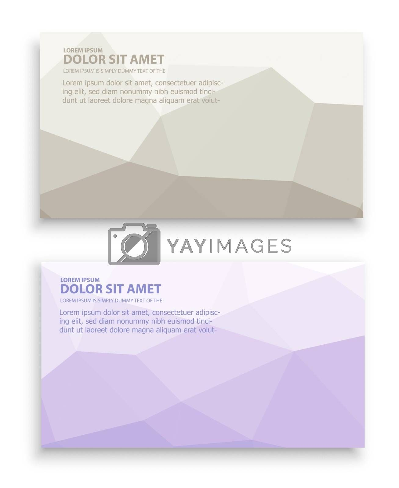 template business card with an abstract background for the presentation and creativity