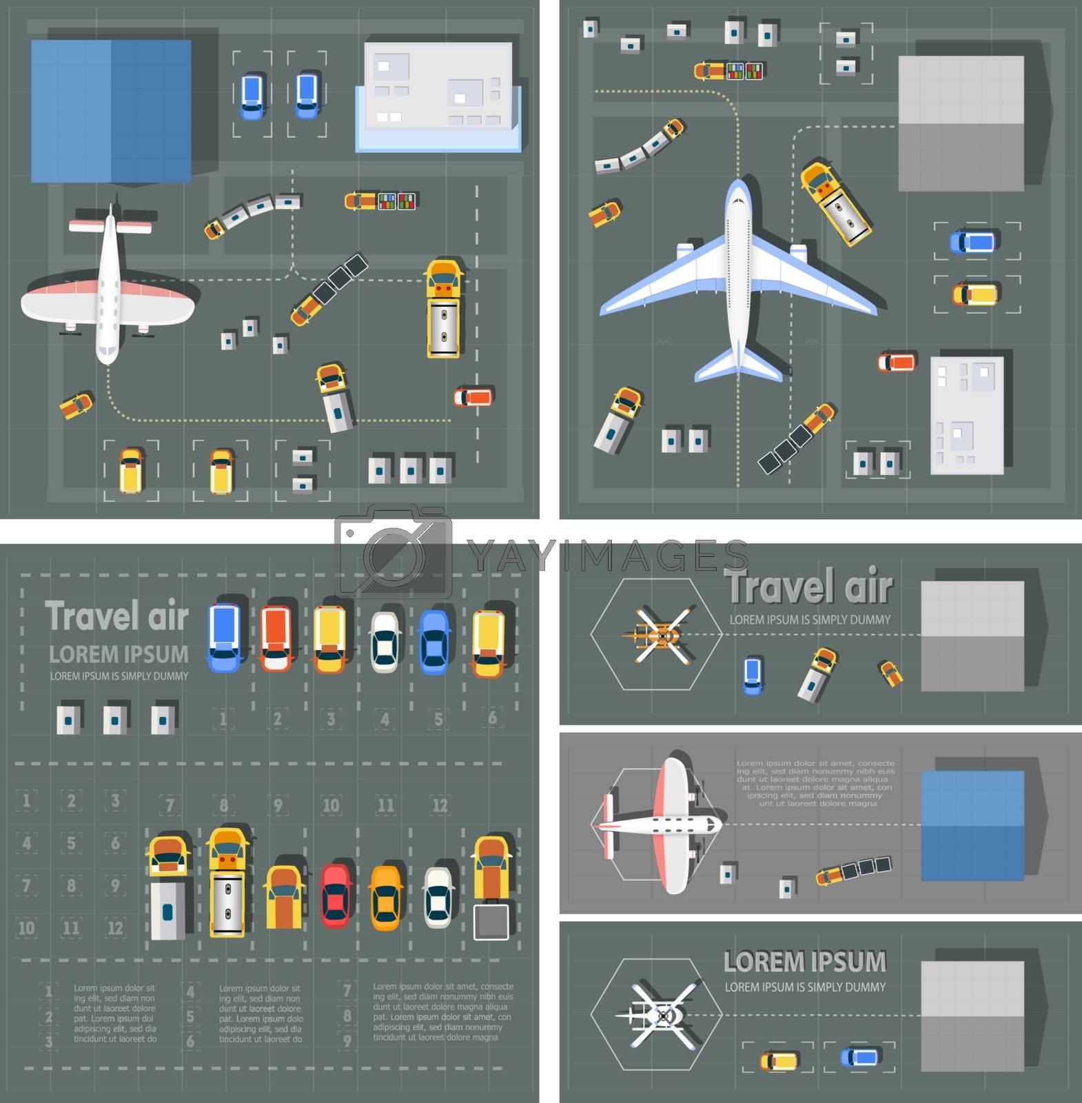 Airport passenger terminal by Alexzel