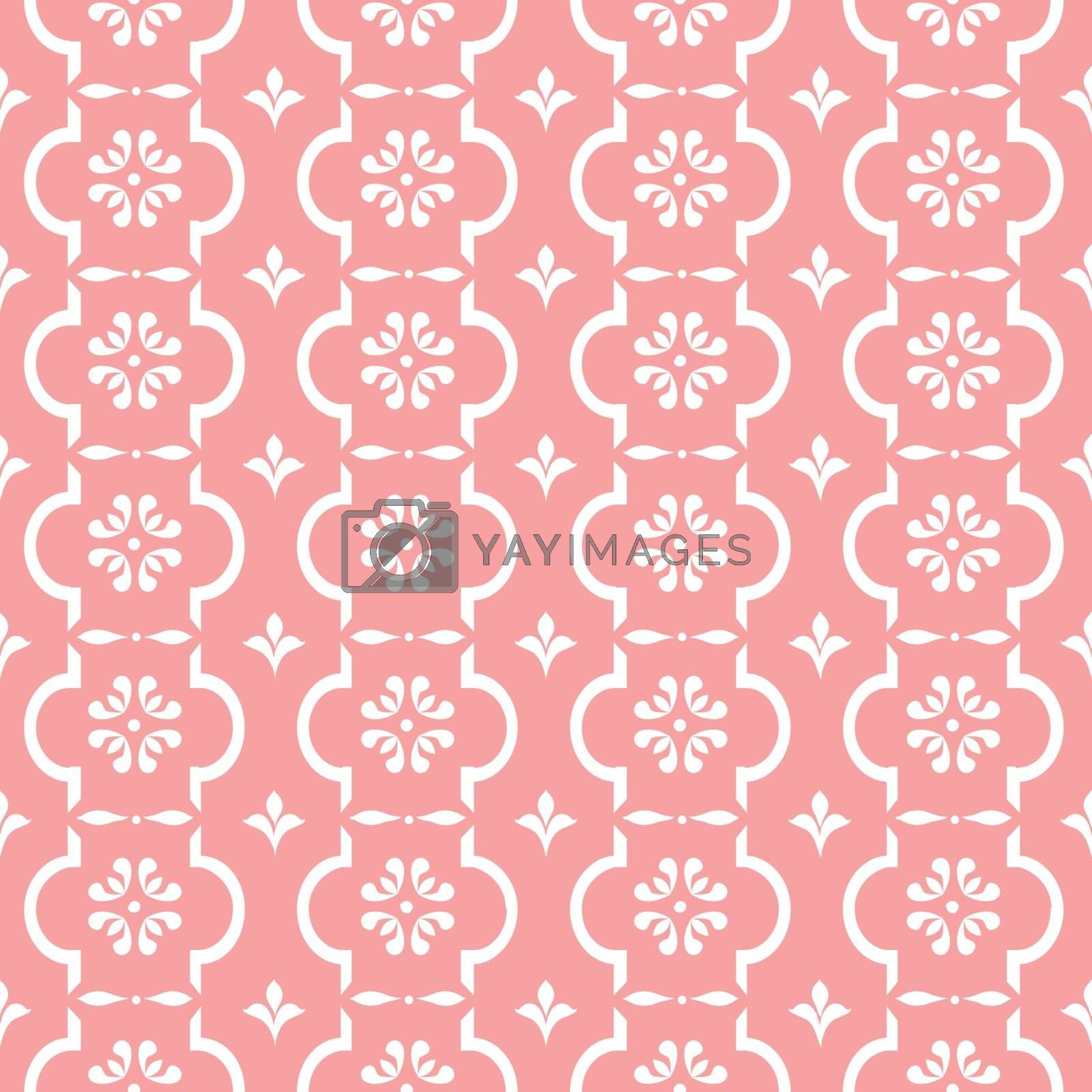Pastel retro vector pattern tiling. Endless texture can be used for printing onto fabric and paper or scrap booking, surface textile, web page background. Flower abstract shapes