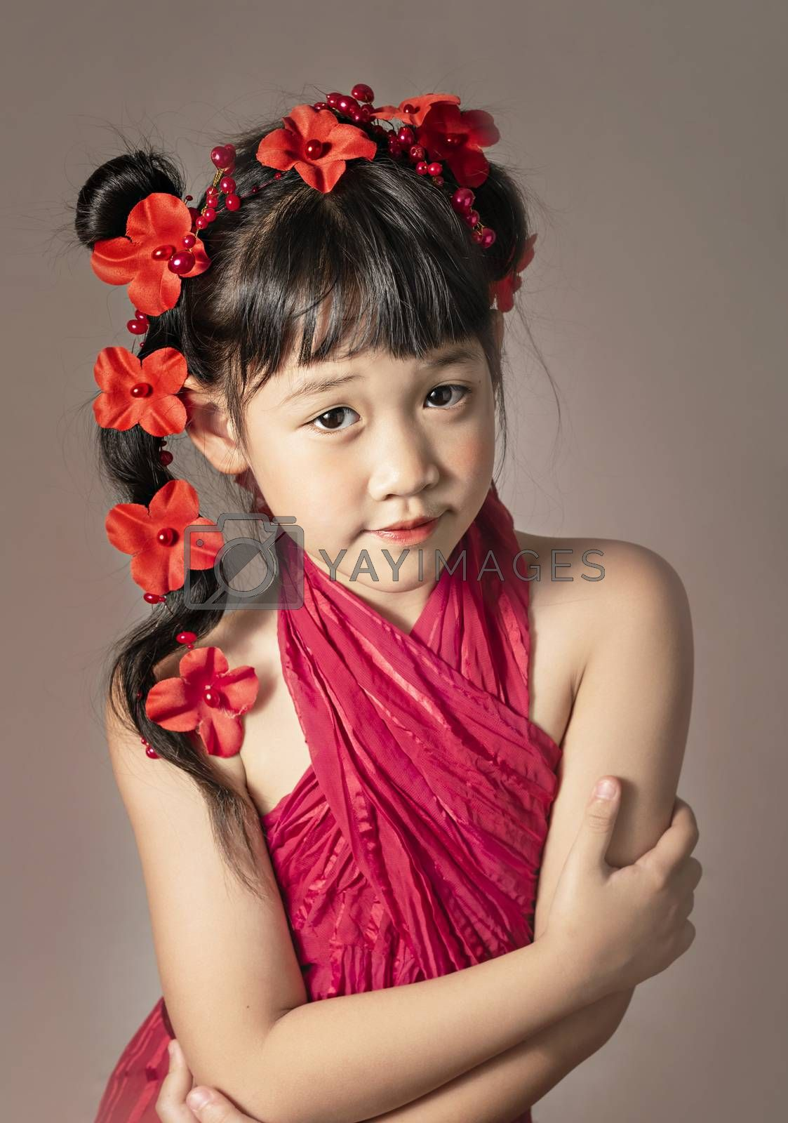 Royalty free image of portrait of asian little  girl  by rakratchada