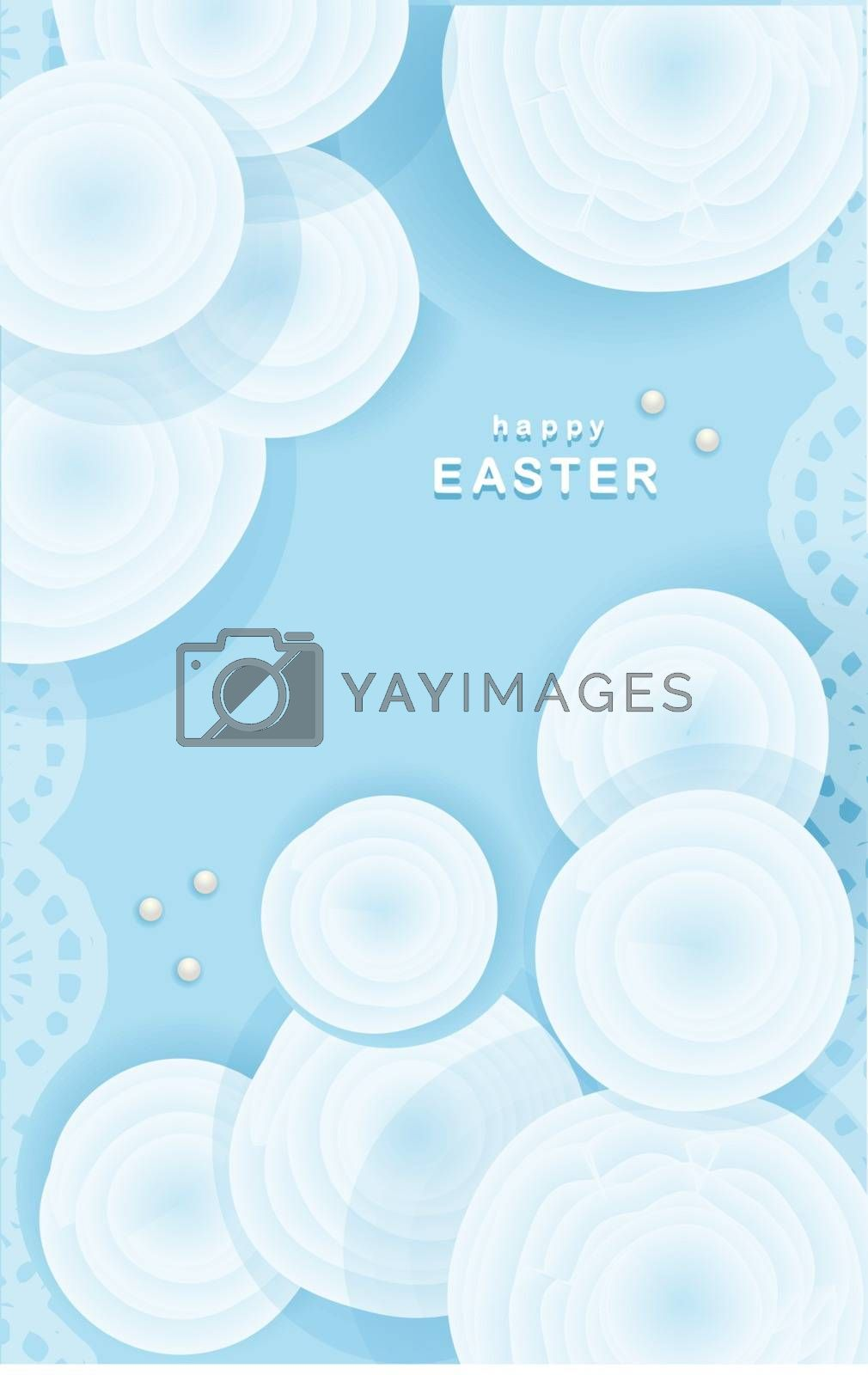 Tender easter background. Greeting card or banner. Have a good weekend. Spring holidays. Happy easter. The flowers are blue