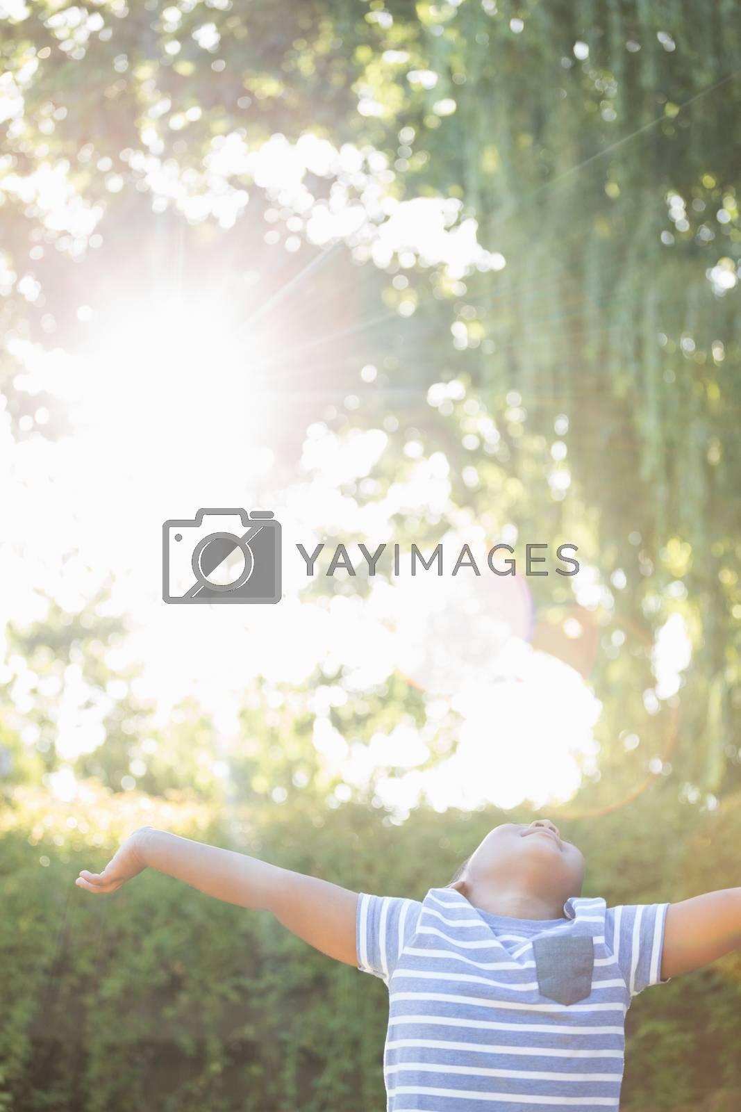 Boy is enjoying the weather by Wavebreakmedia