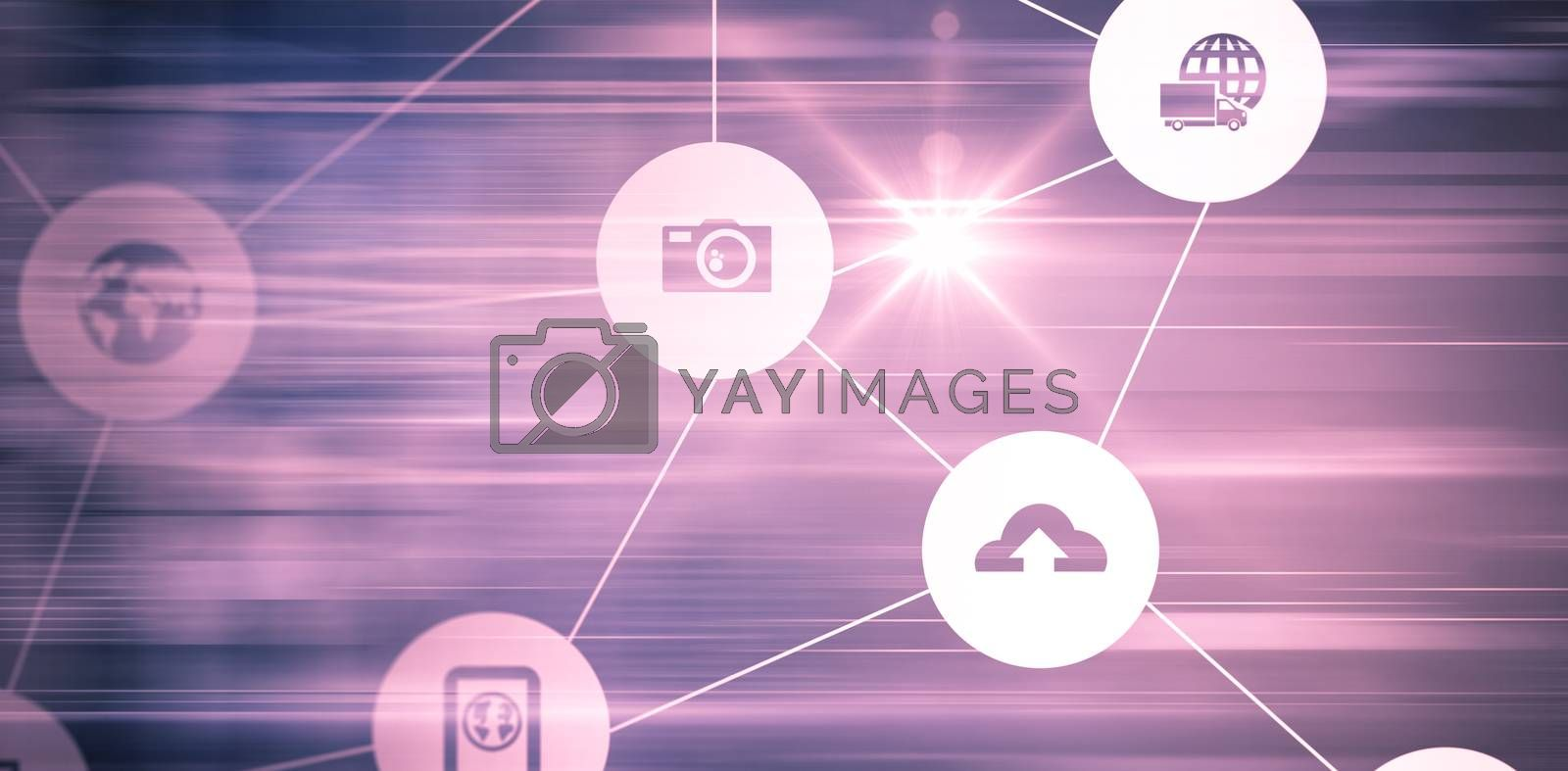 Technology icon on pink background