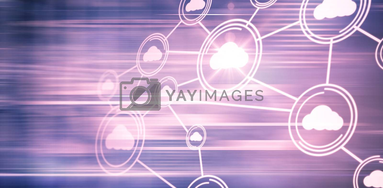 Technology interface on pink background