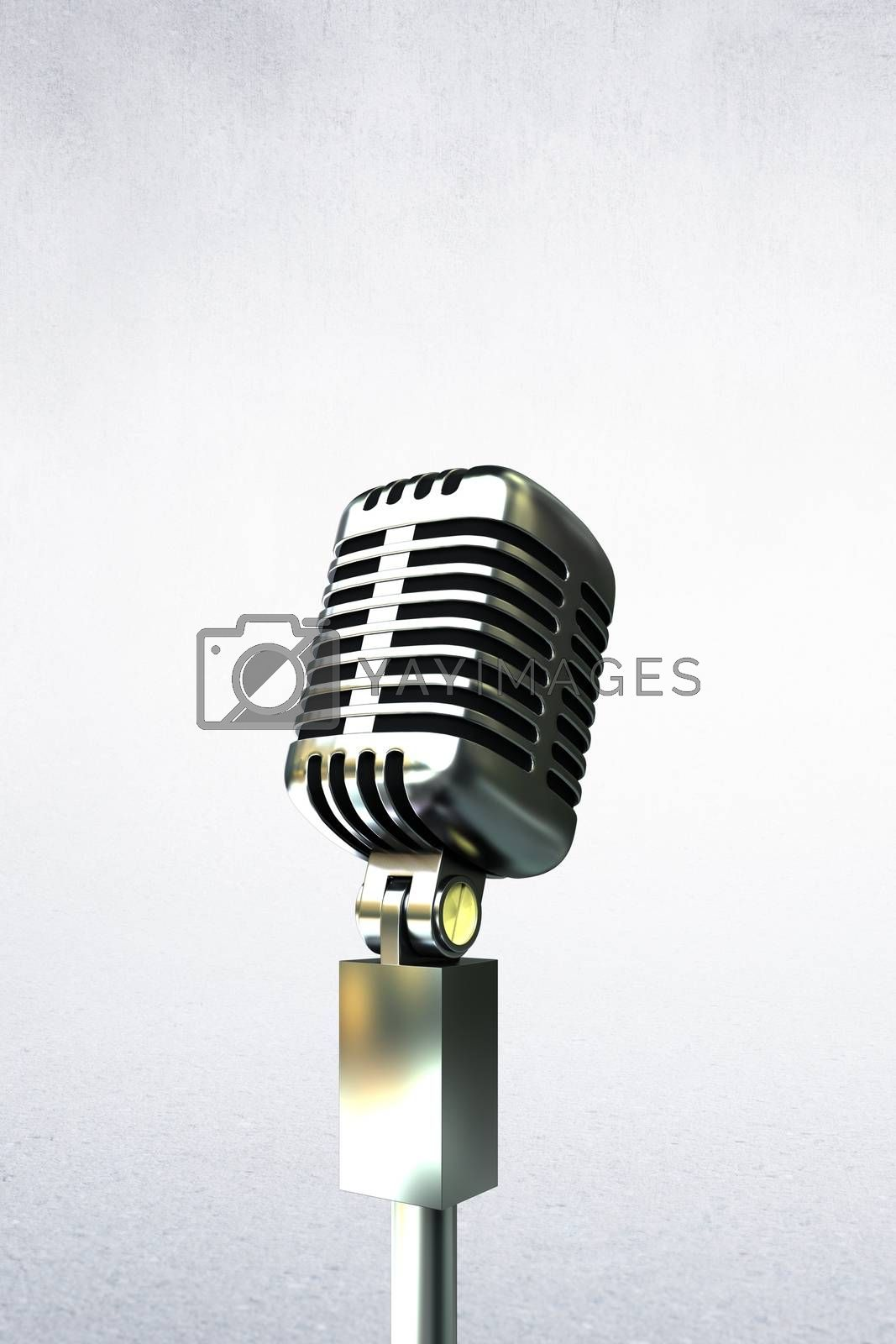 Composite image of people enjoying a microphone in a white background