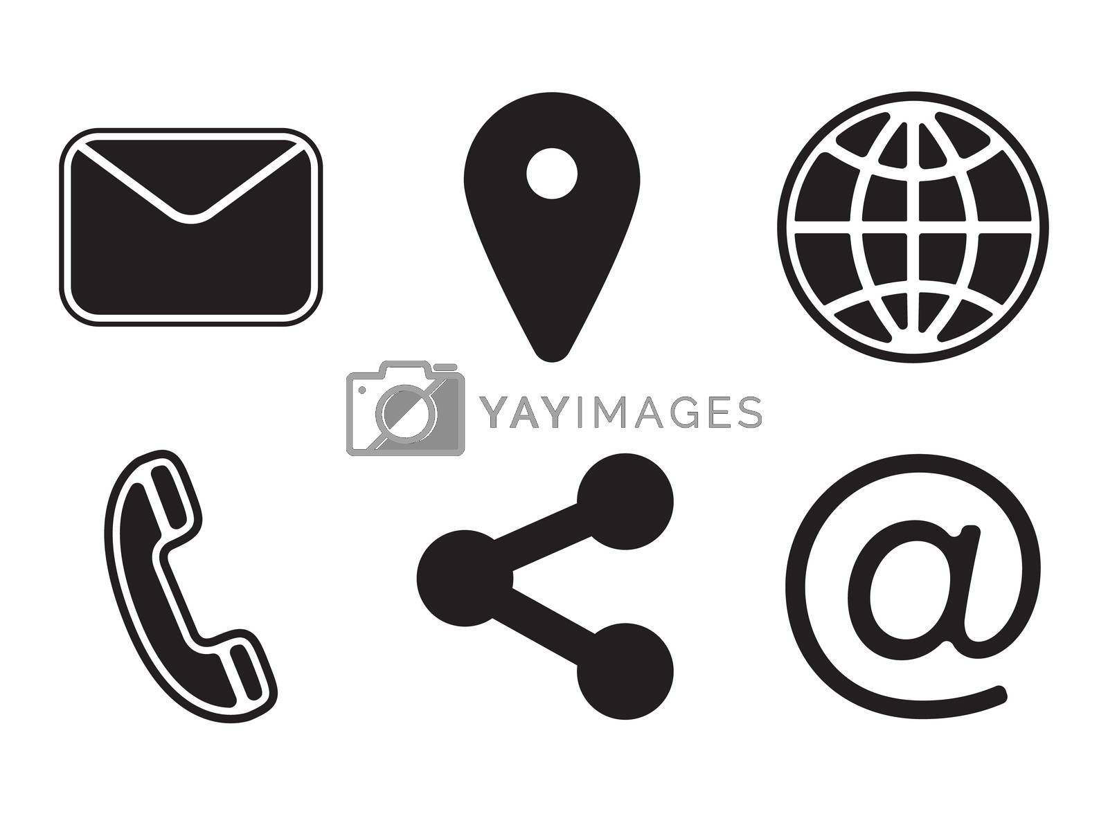 Various vector icons of communication by Wavebreakmedia