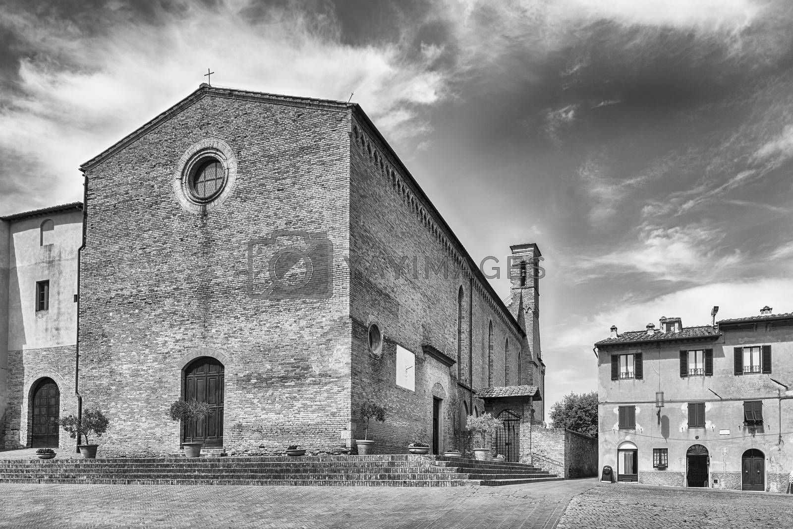 Church of Sant'Agostino, landmark in the medieval town of San Gimignano, Tuscany, Italy