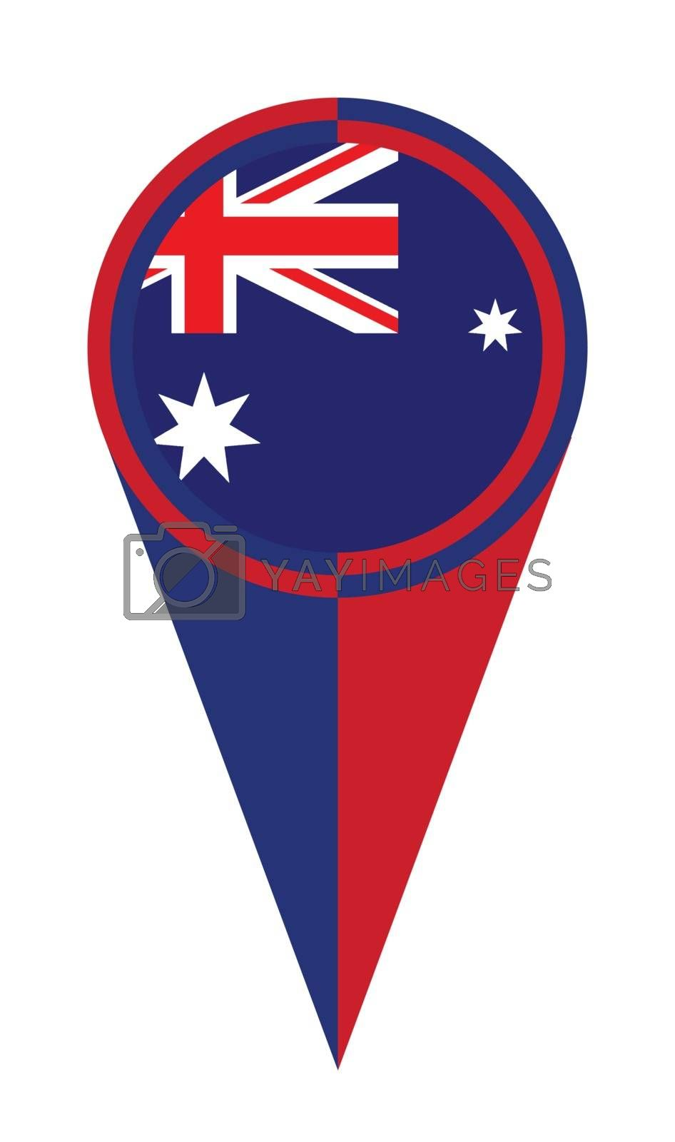 Australian map pointer pin icon location flag marker