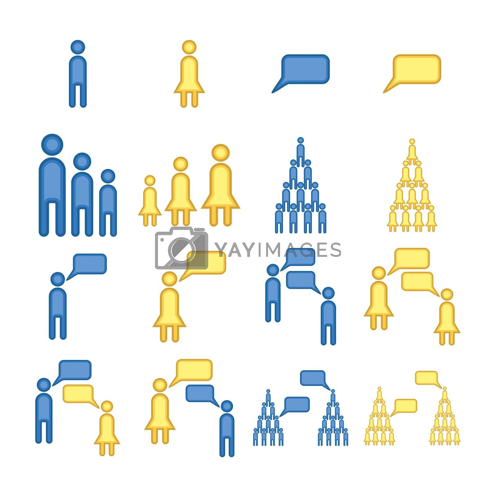 Vector image of human communication by Wavebreakmedia
