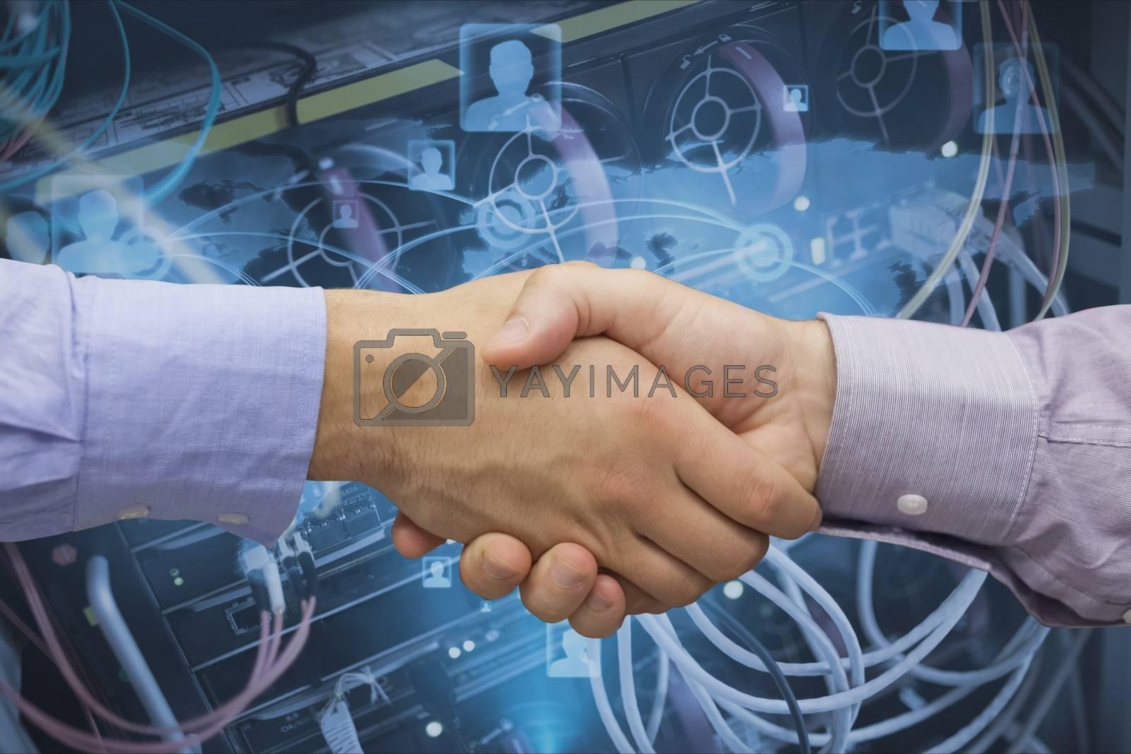 Digital composite of Handshake technology 16