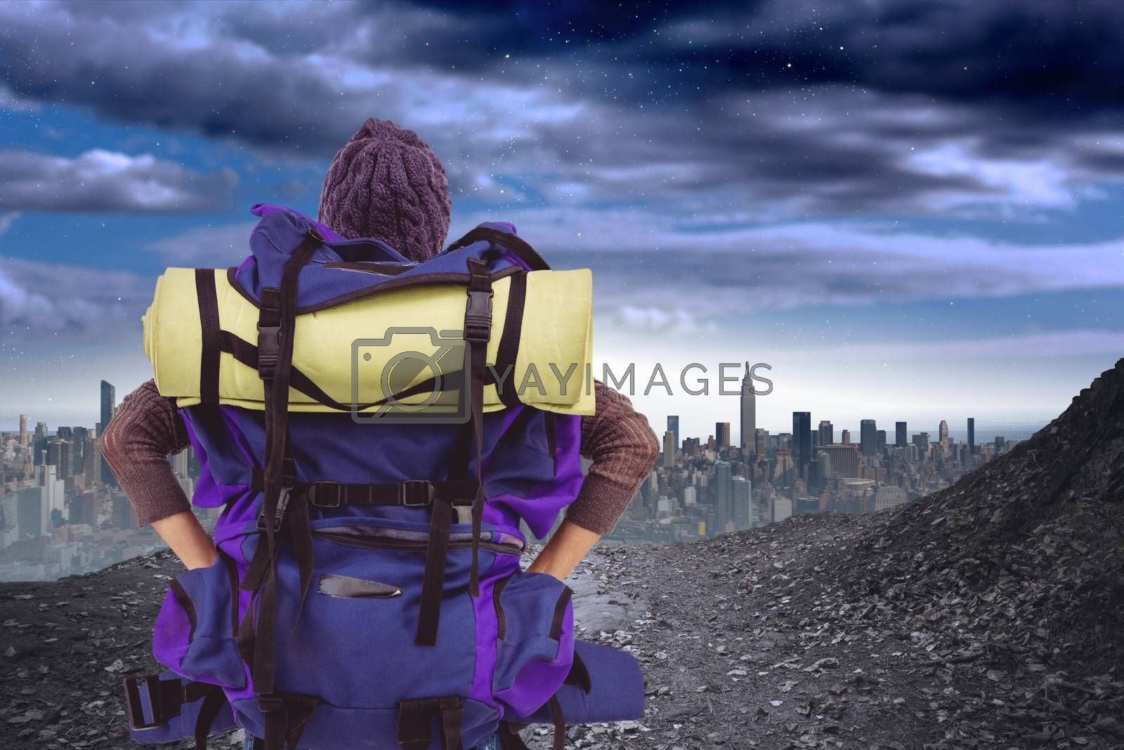 Digital composite of travel torso4