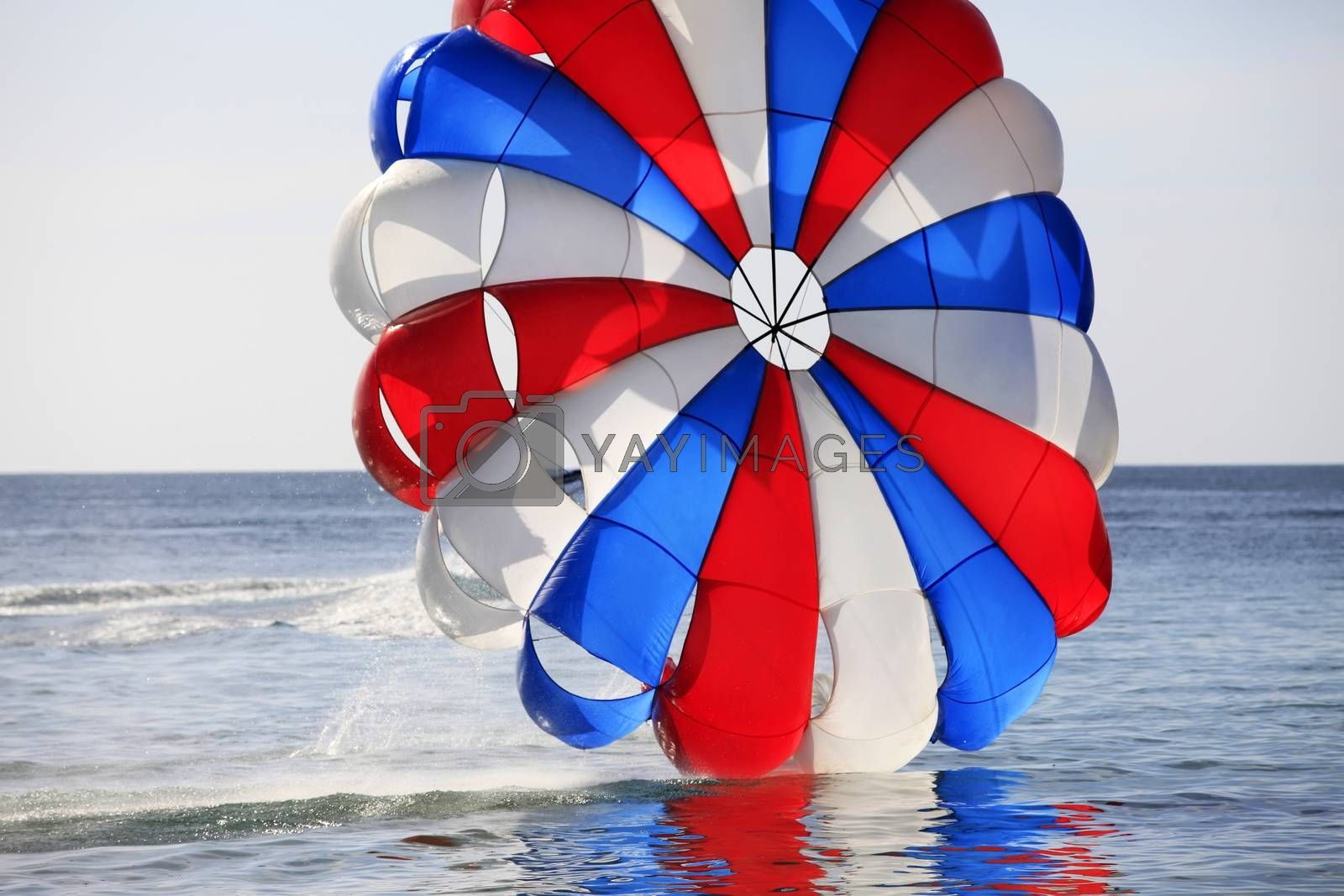 Parasailing activities in Vietnam. Phu Quoc