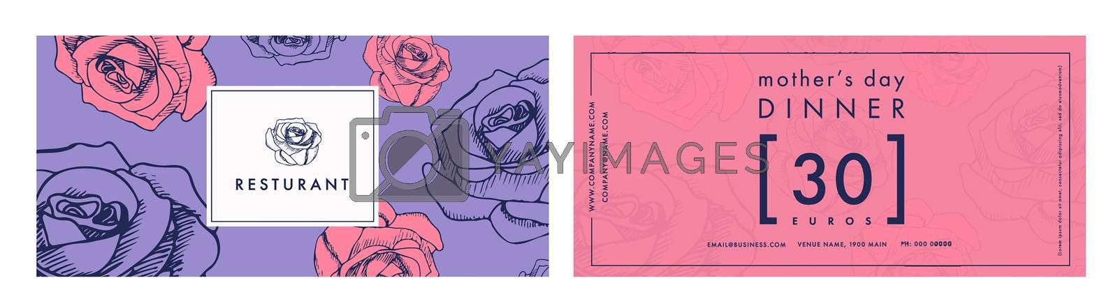 Vector image of greeting card with mothers day message