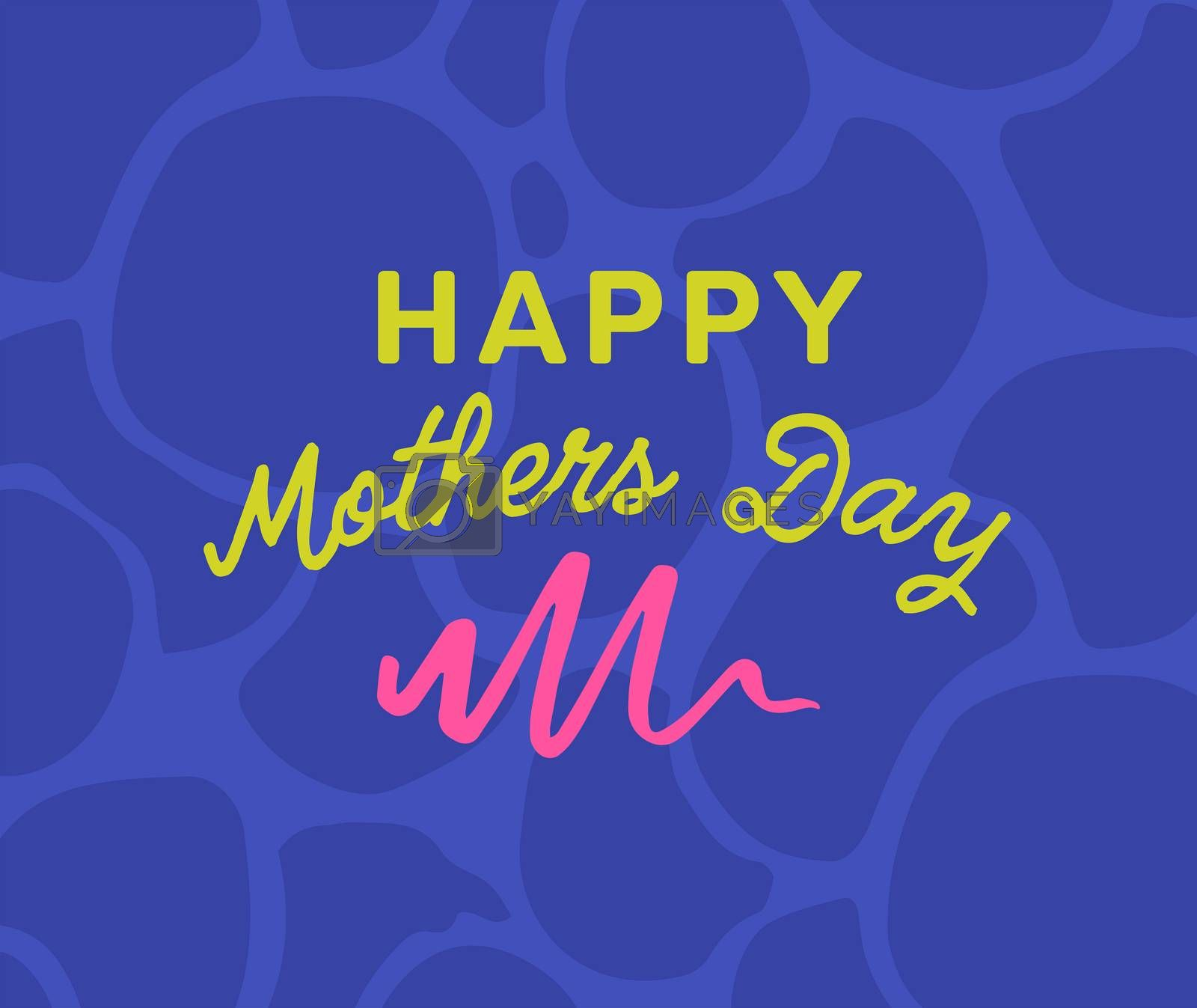 Vector of mothers day card with happy mothers day message