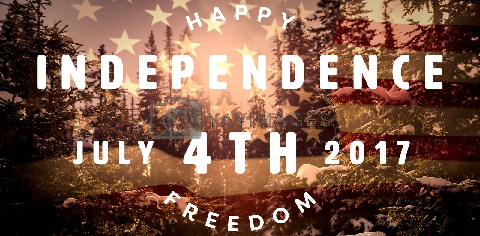 Royalty free image of Composite image of computer graphic image of happy 4th of july text by Wavebreakmedia
