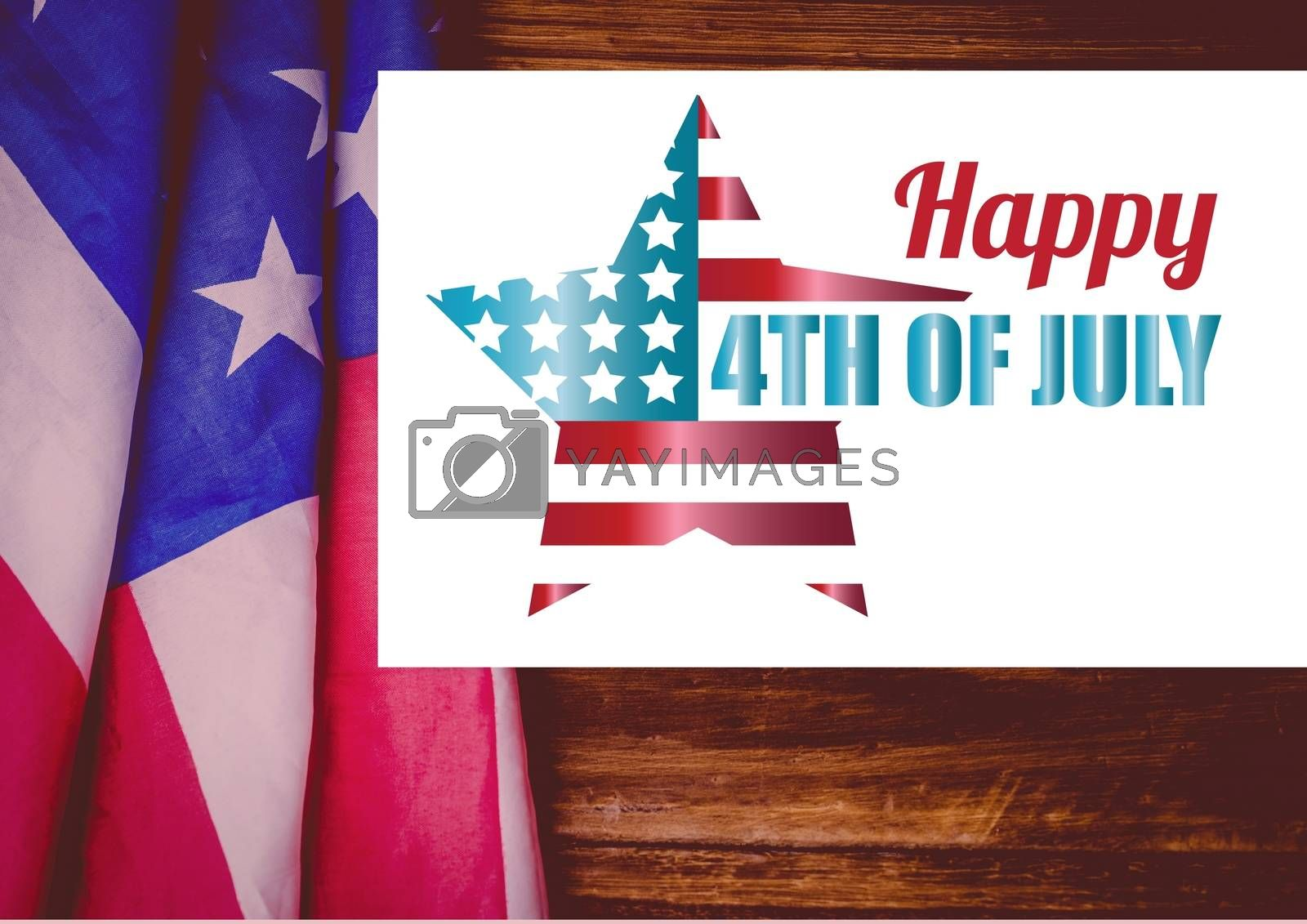 Digital composite of 4th of July design