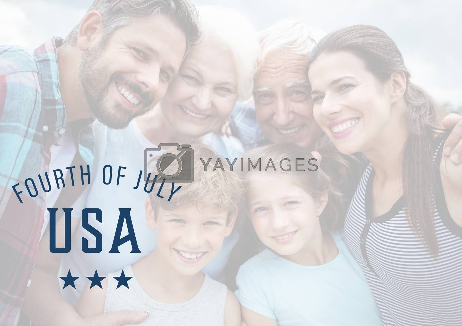 Smiling family for the 4th of july by Wavebreakmedia