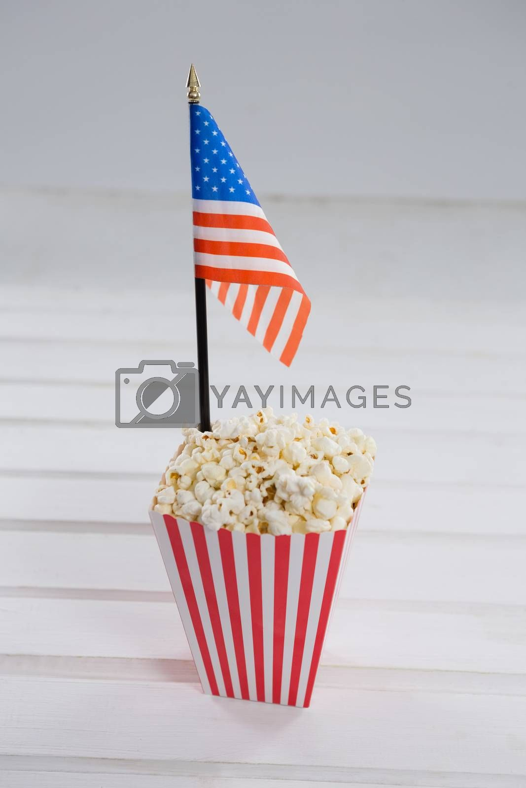 Close-up of popcorn with 4th july theme by Wavebreakmedia