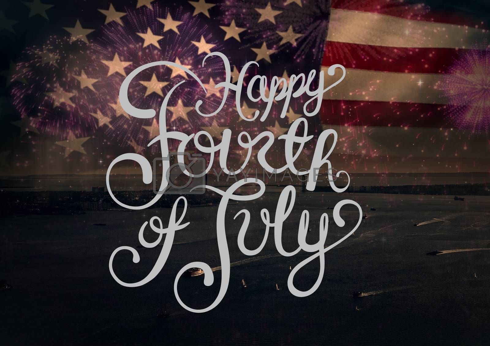 Digital composite of Happy 4th of July design