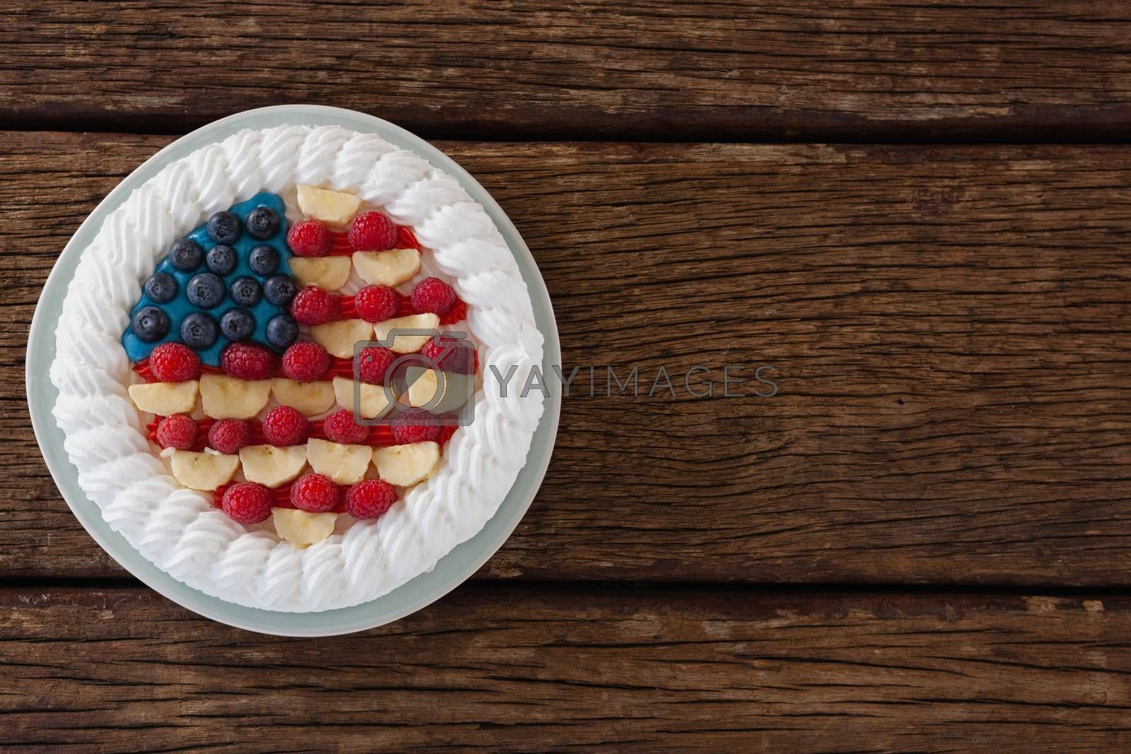 Fruitcake with 4th july theme by Wavebreakmedia