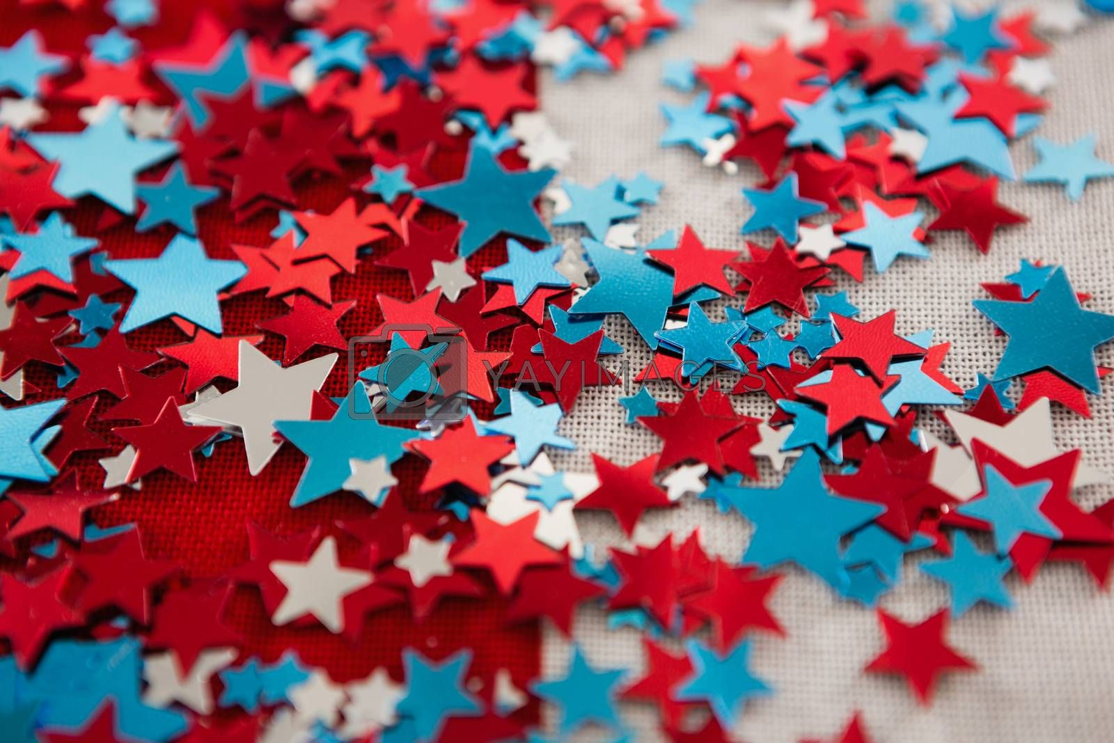 Close-up of star shape decoration with 4th july theme