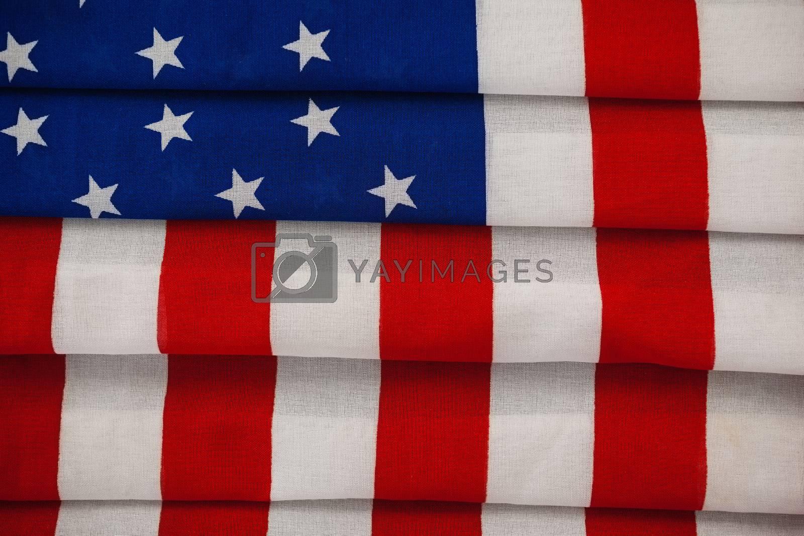Full frame of an American flag