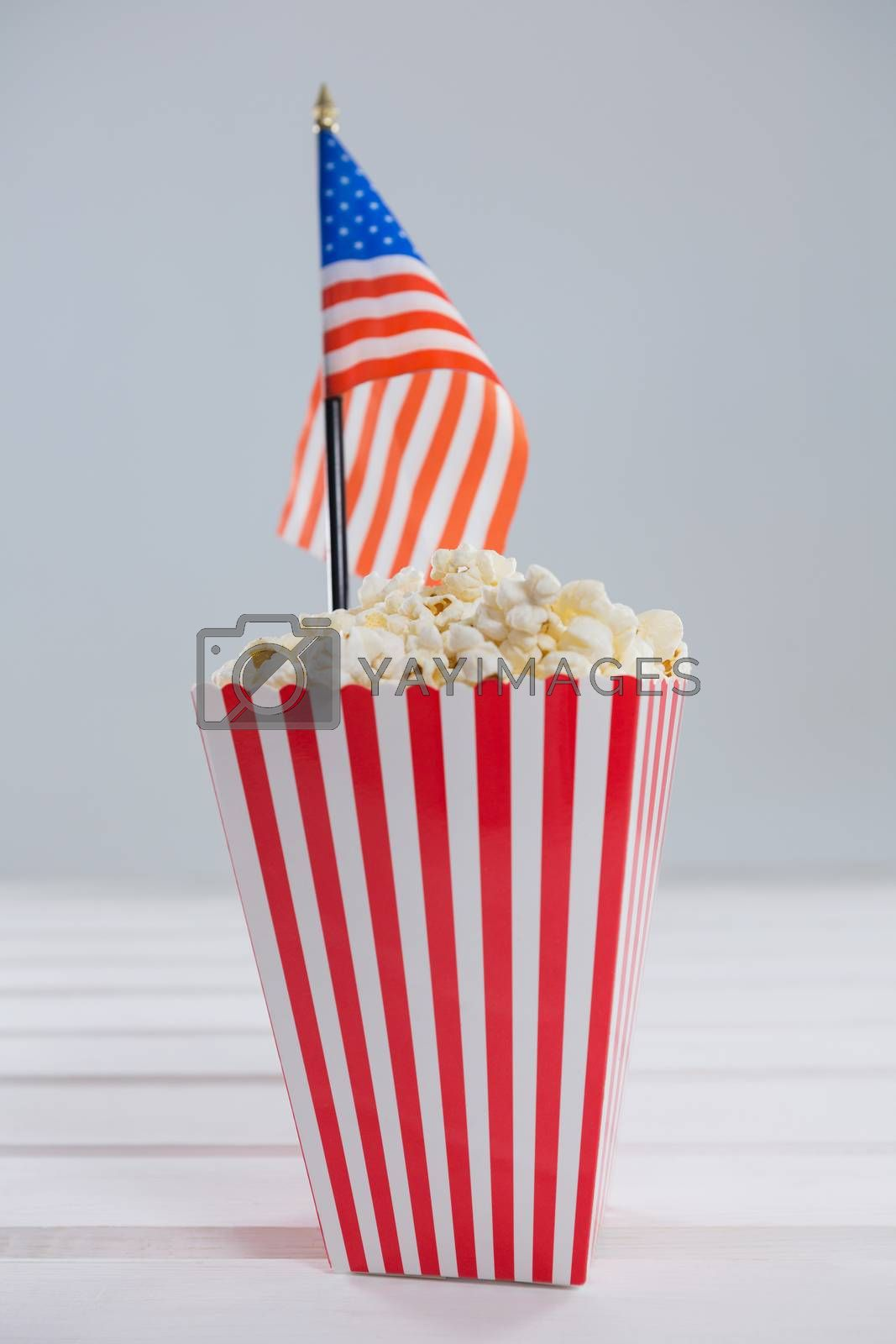 Royalty free image of Close-up of popcorn with 4th july theme by Wavebreakmedia