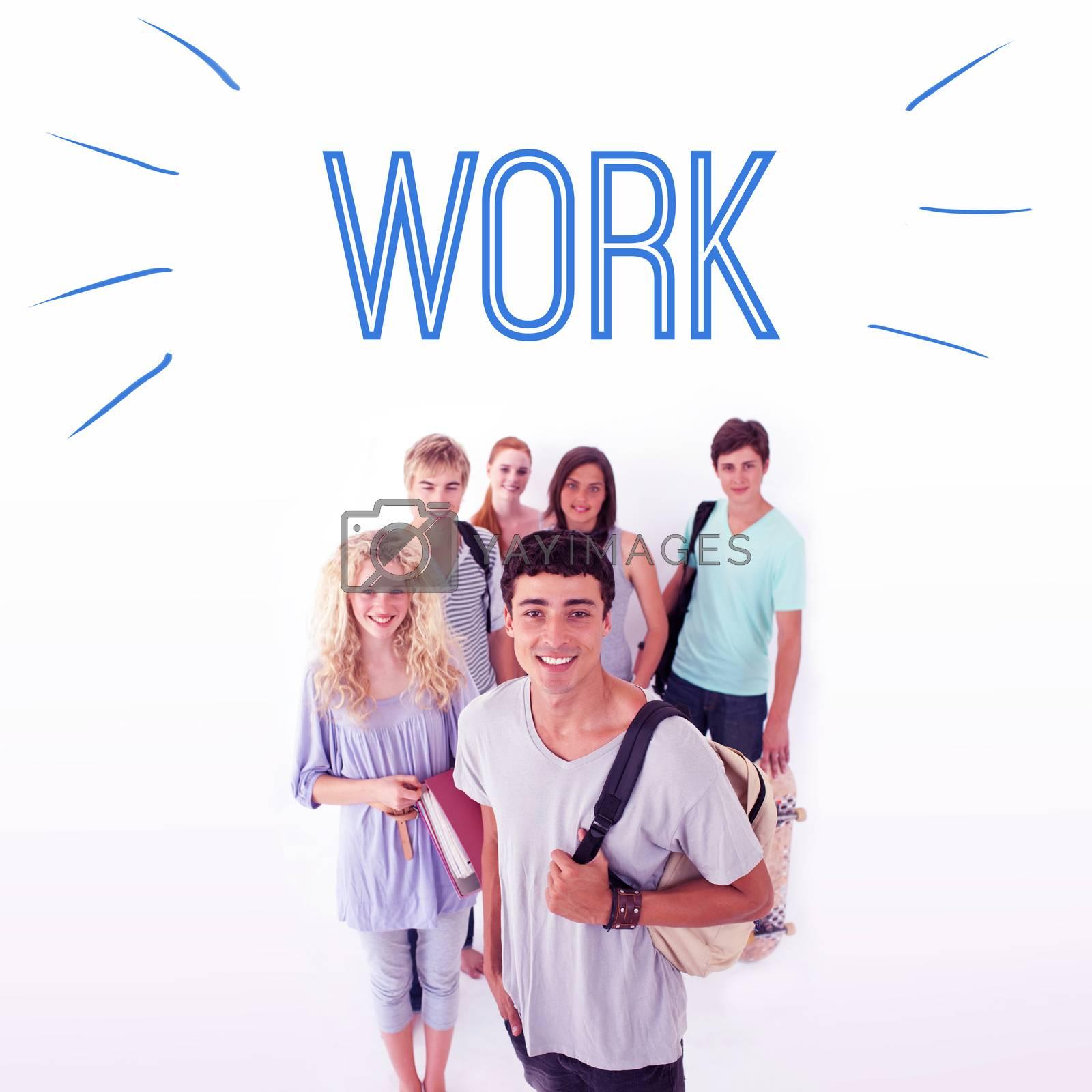 Work against smiling students by Wavebreakmedia