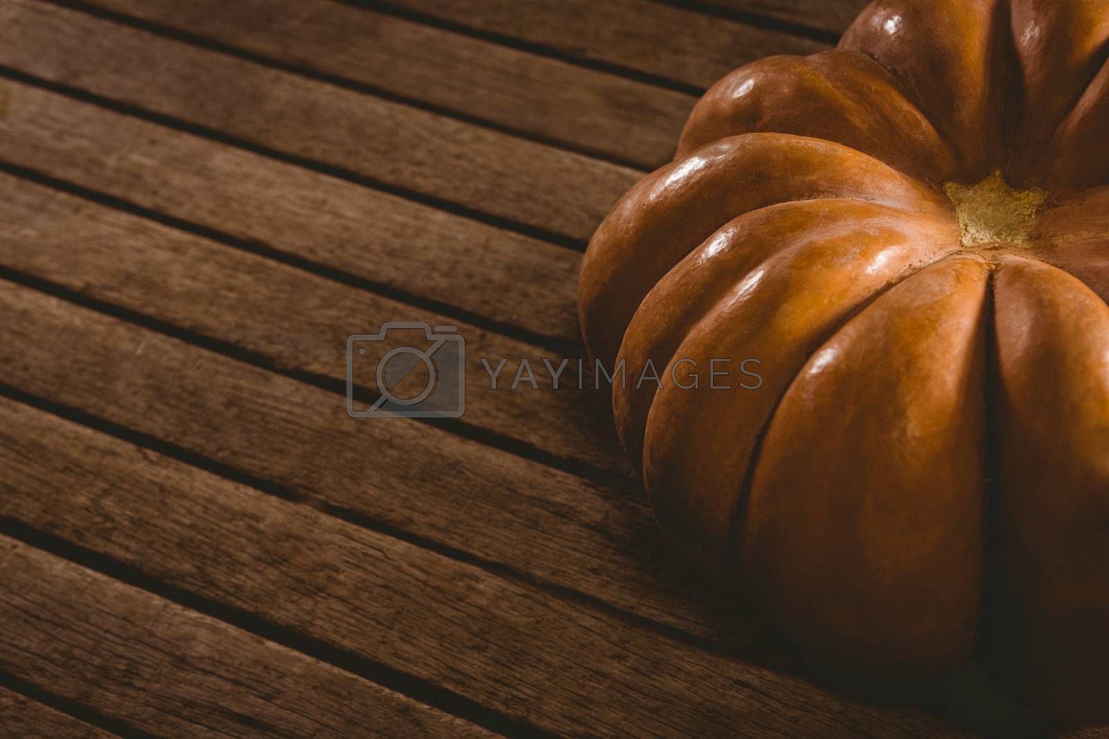 High angle view of pumpkin on table during Halloween