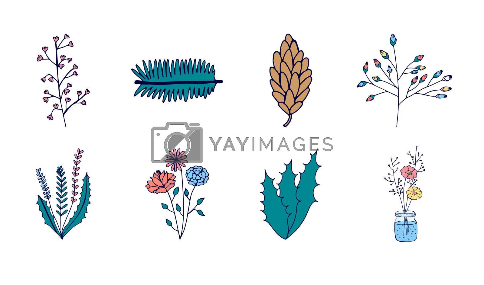 Vector icon set of plants icon by Wavebreakmedia