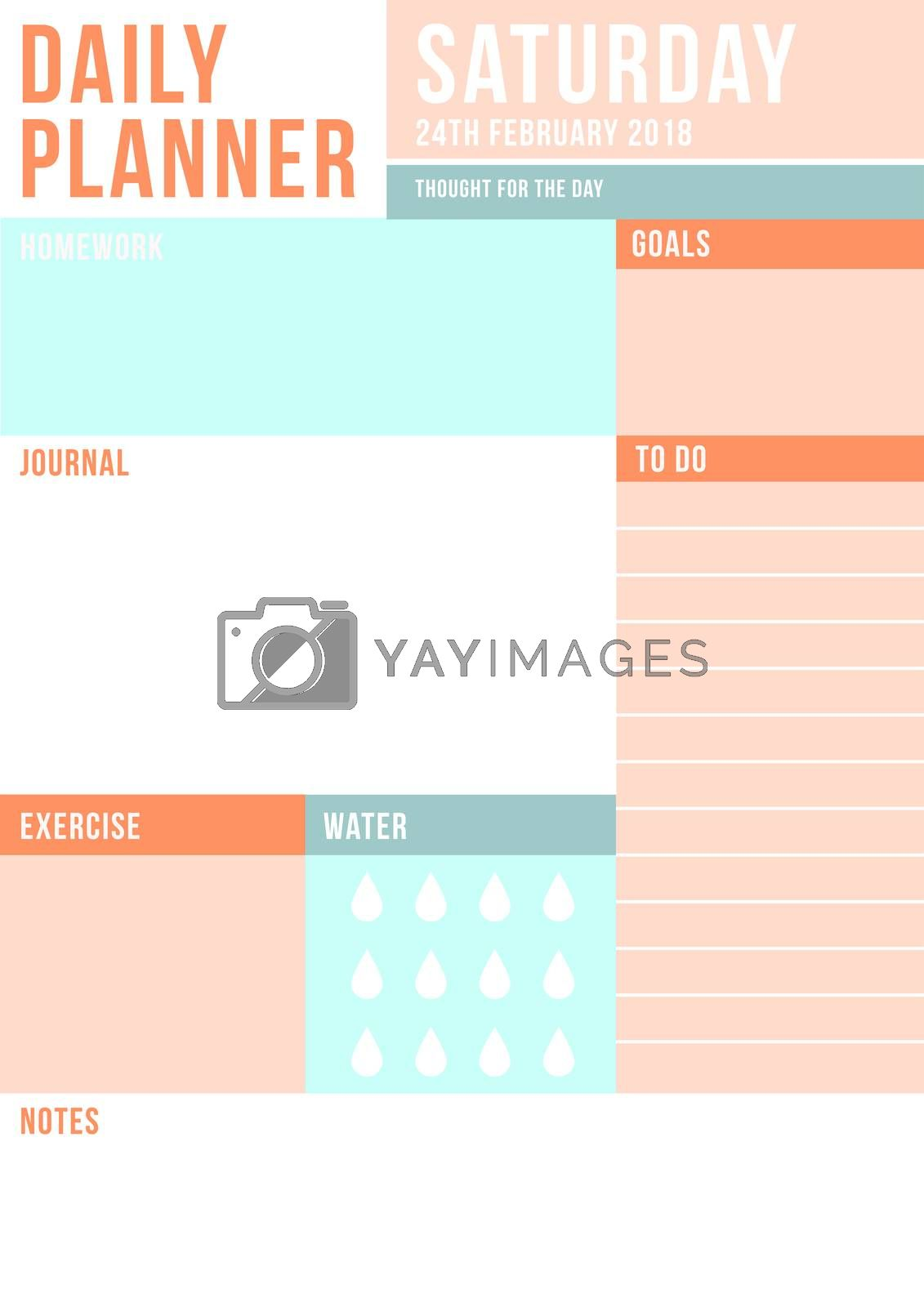 Daily planner template by Wavebreakmedia