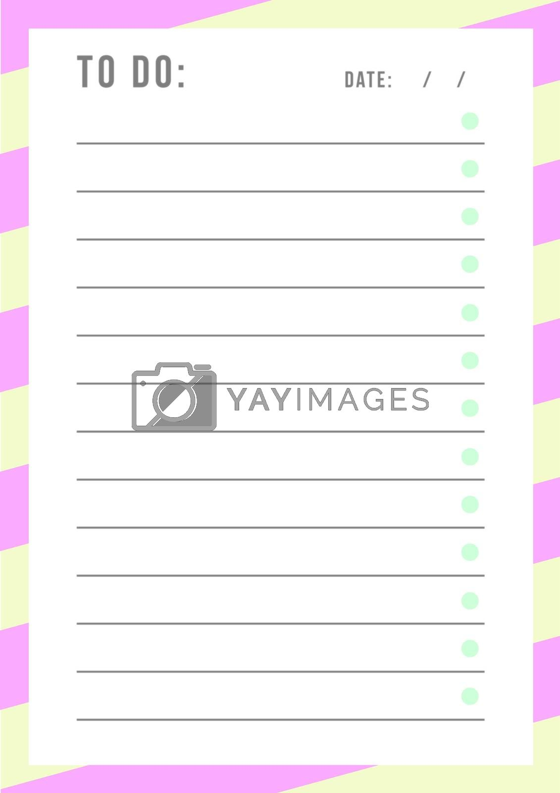Daily planner template layout by Wavebreakmedia
