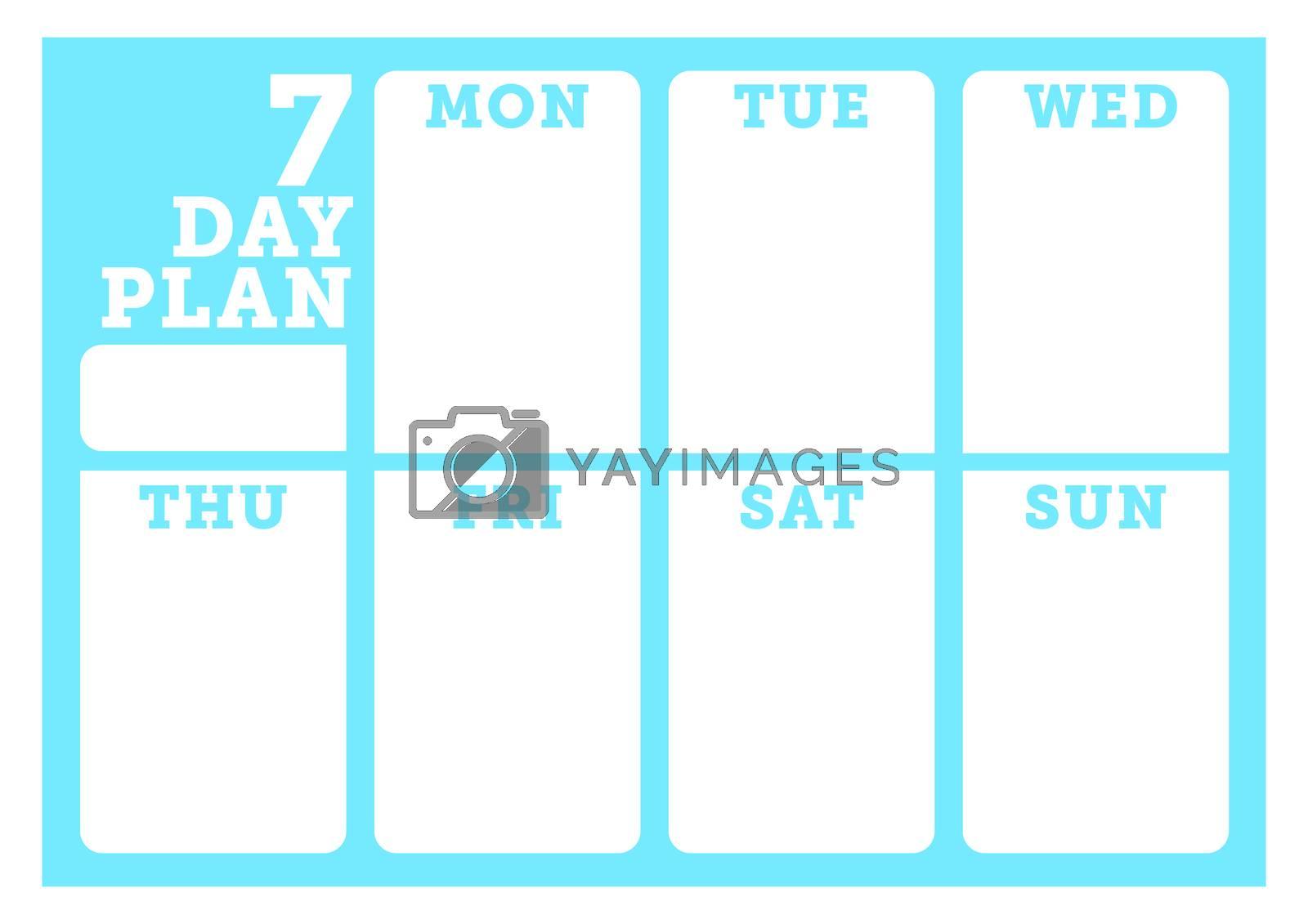 Weekly planner template by Wavebreakmedia